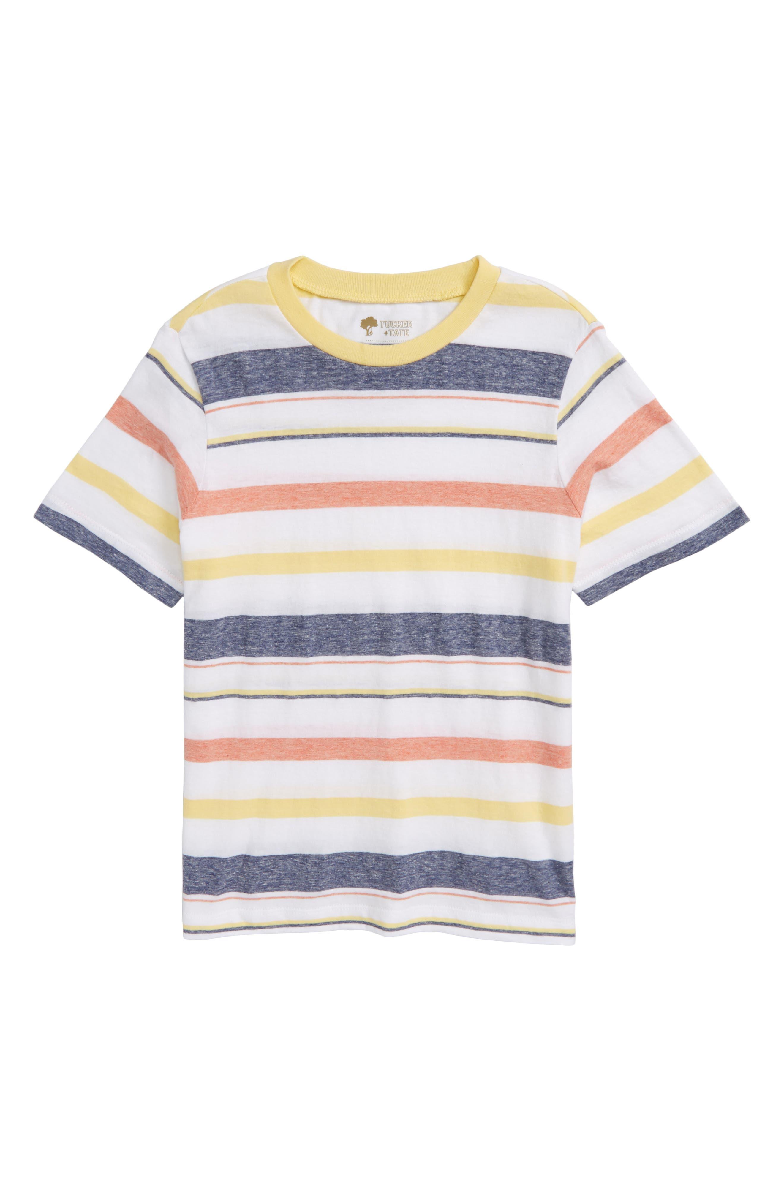 Washed Stripe T-Shirt,                             Main thumbnail 1, color,                             White Varigated Stripe