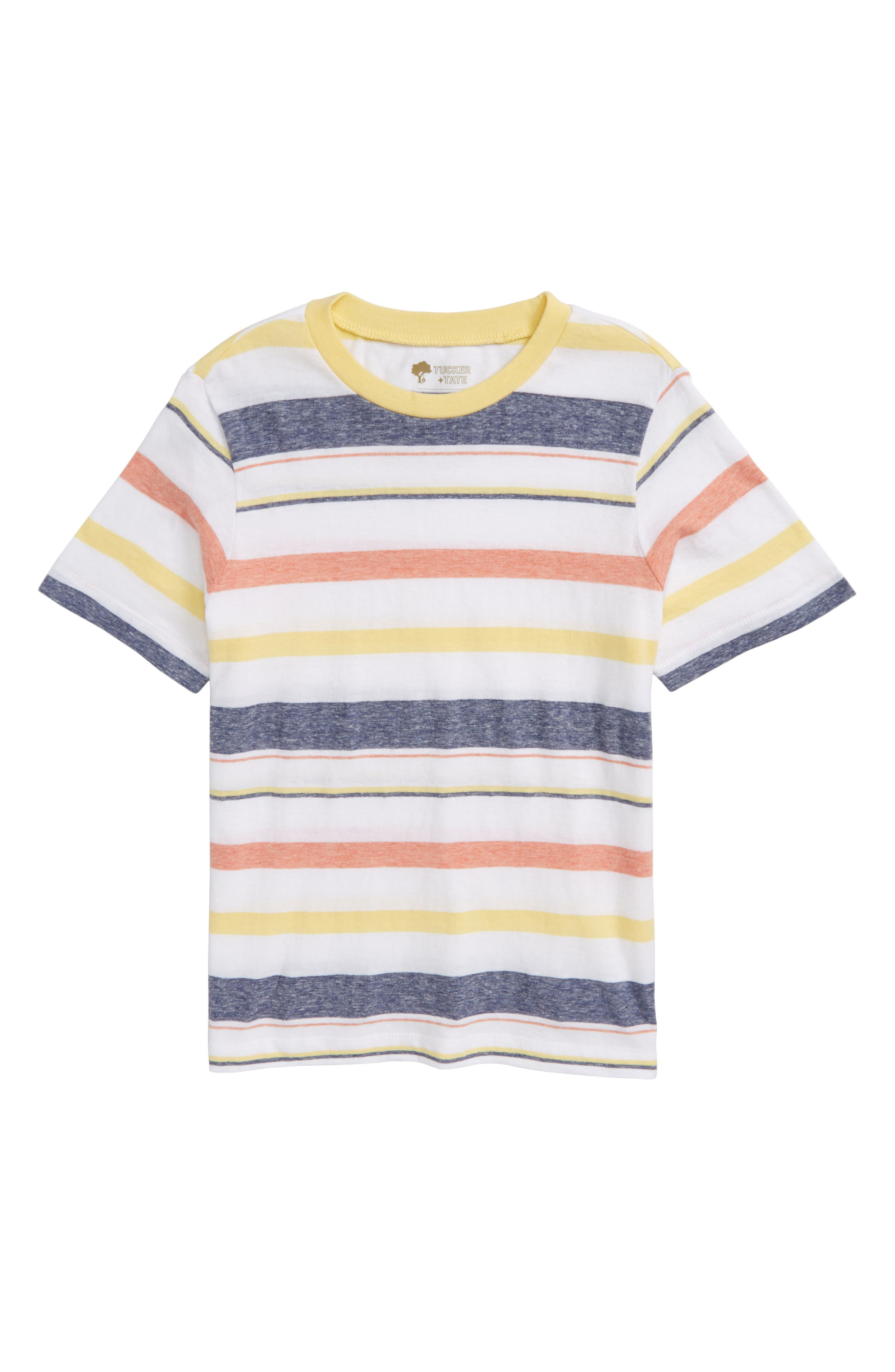 Washed Stripe T-Shirt,                         Main,                         color, White Varigated Stripe