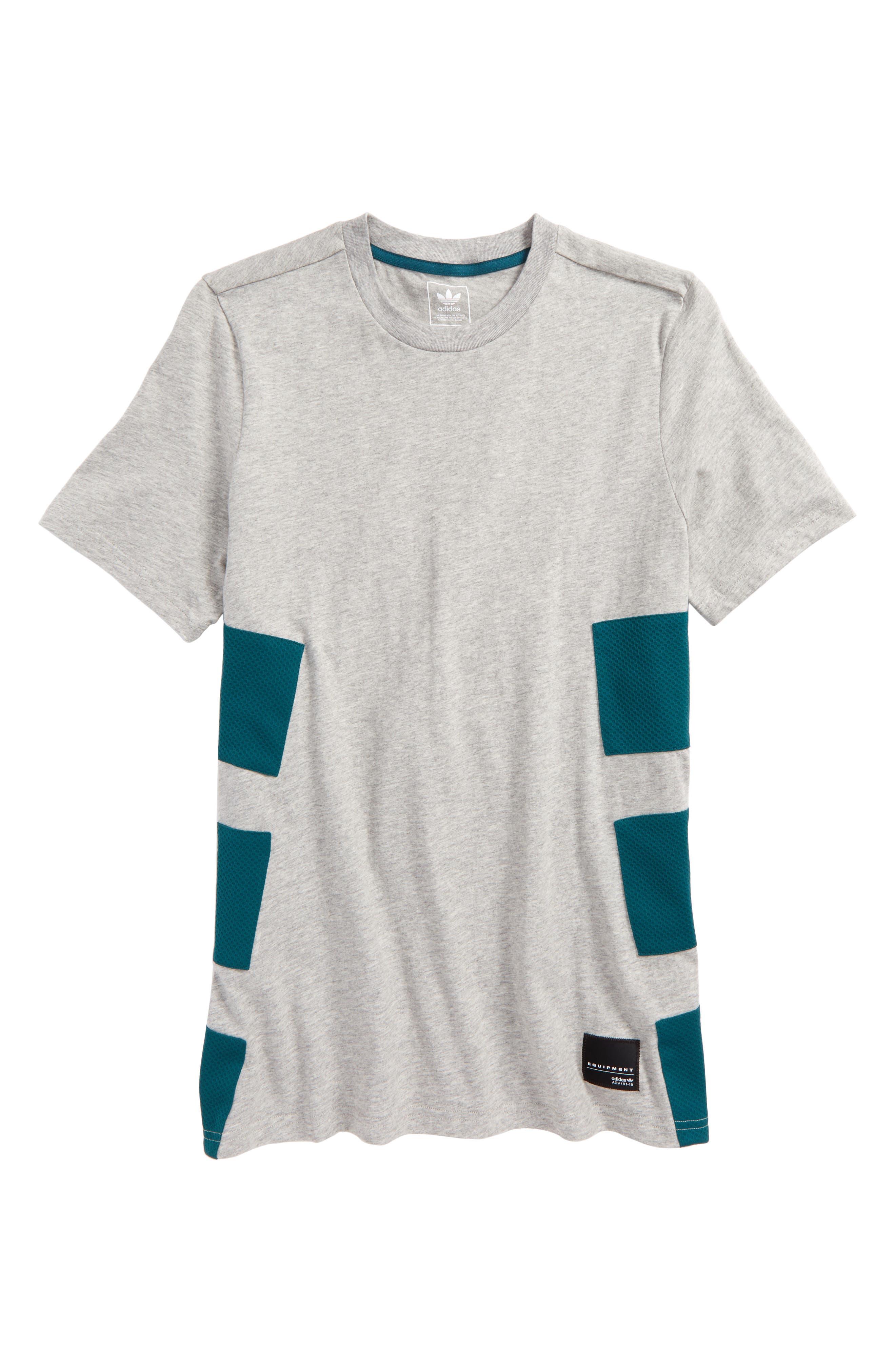 EQT T-Shirt,                         Main,                         color, Grey/ Mystery Green