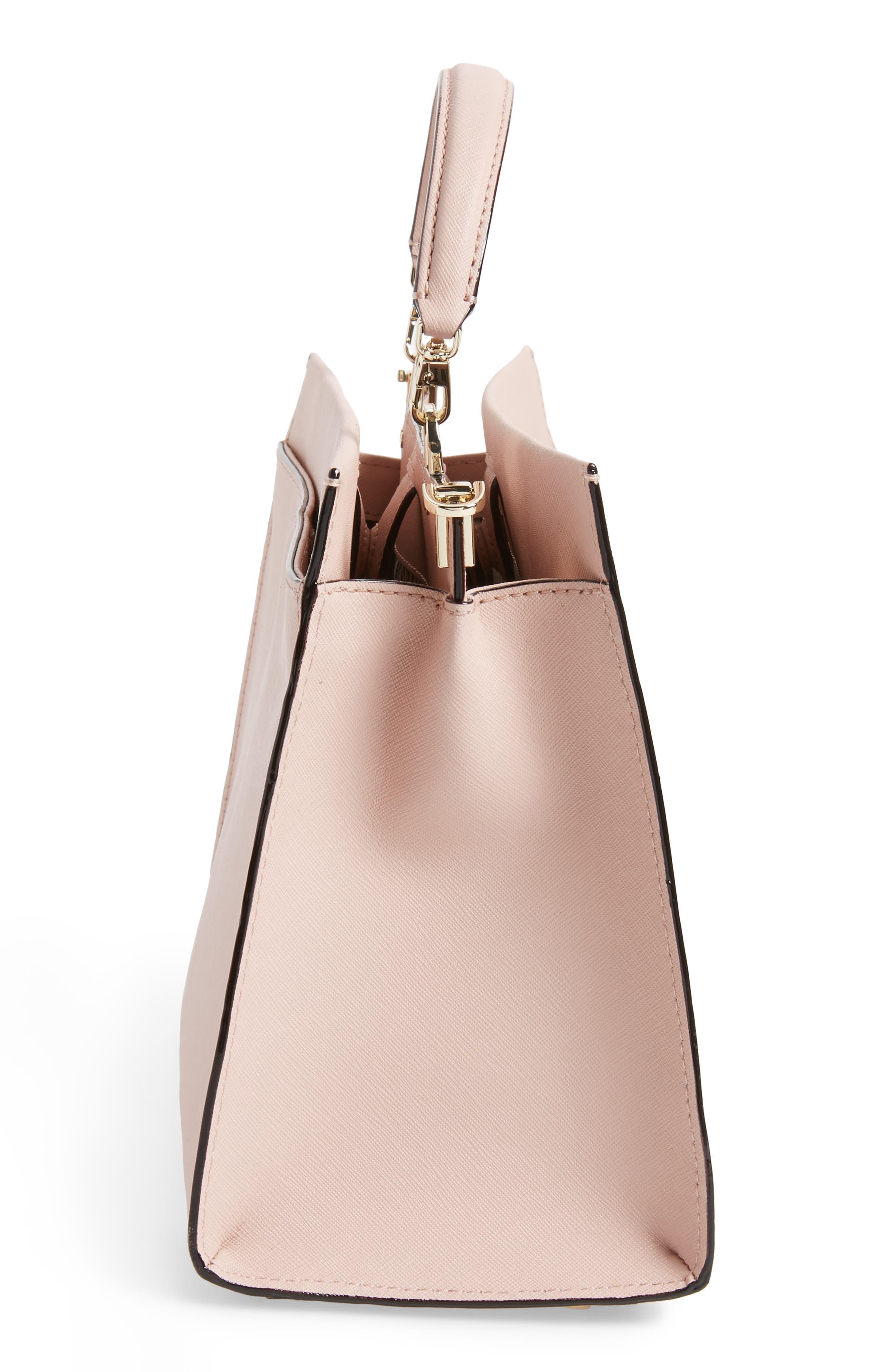 cameron street - sara leather satchel,                             Alternate thumbnail 5, color,                             Warm Vellum