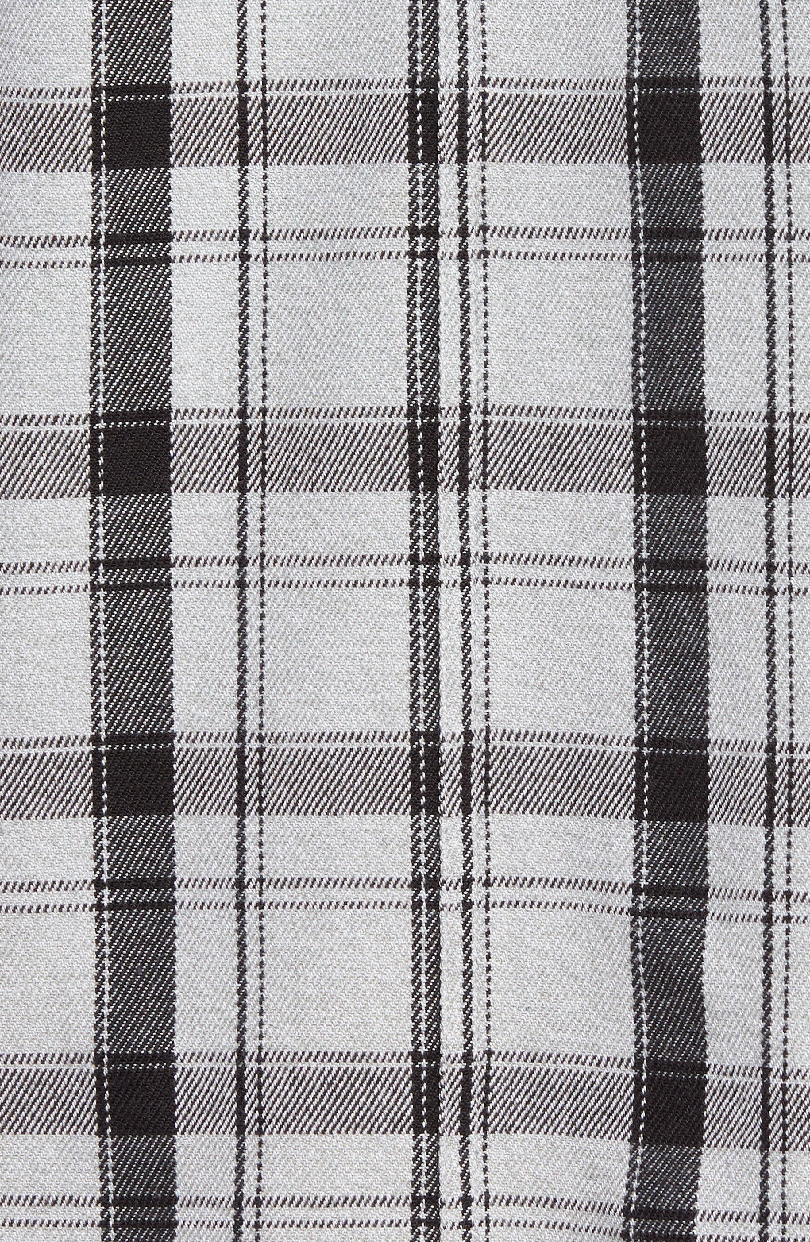 Carpenter Flannel Shirt,                             Alternate thumbnail 5, color,                             Fog