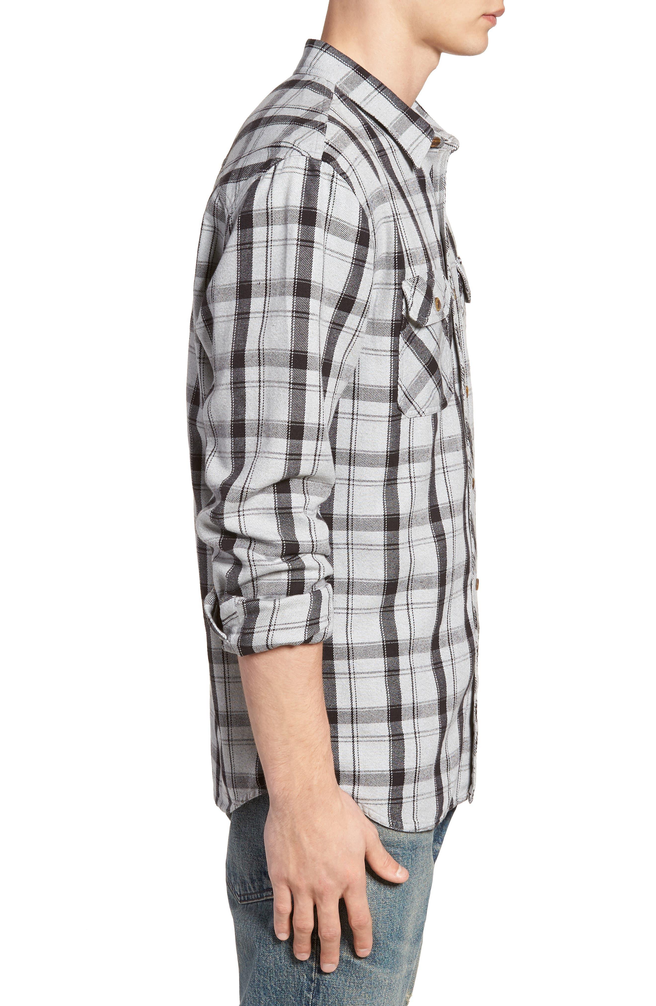 Carpenter Flannel Shirt,                             Alternate thumbnail 4, color,                             Fog