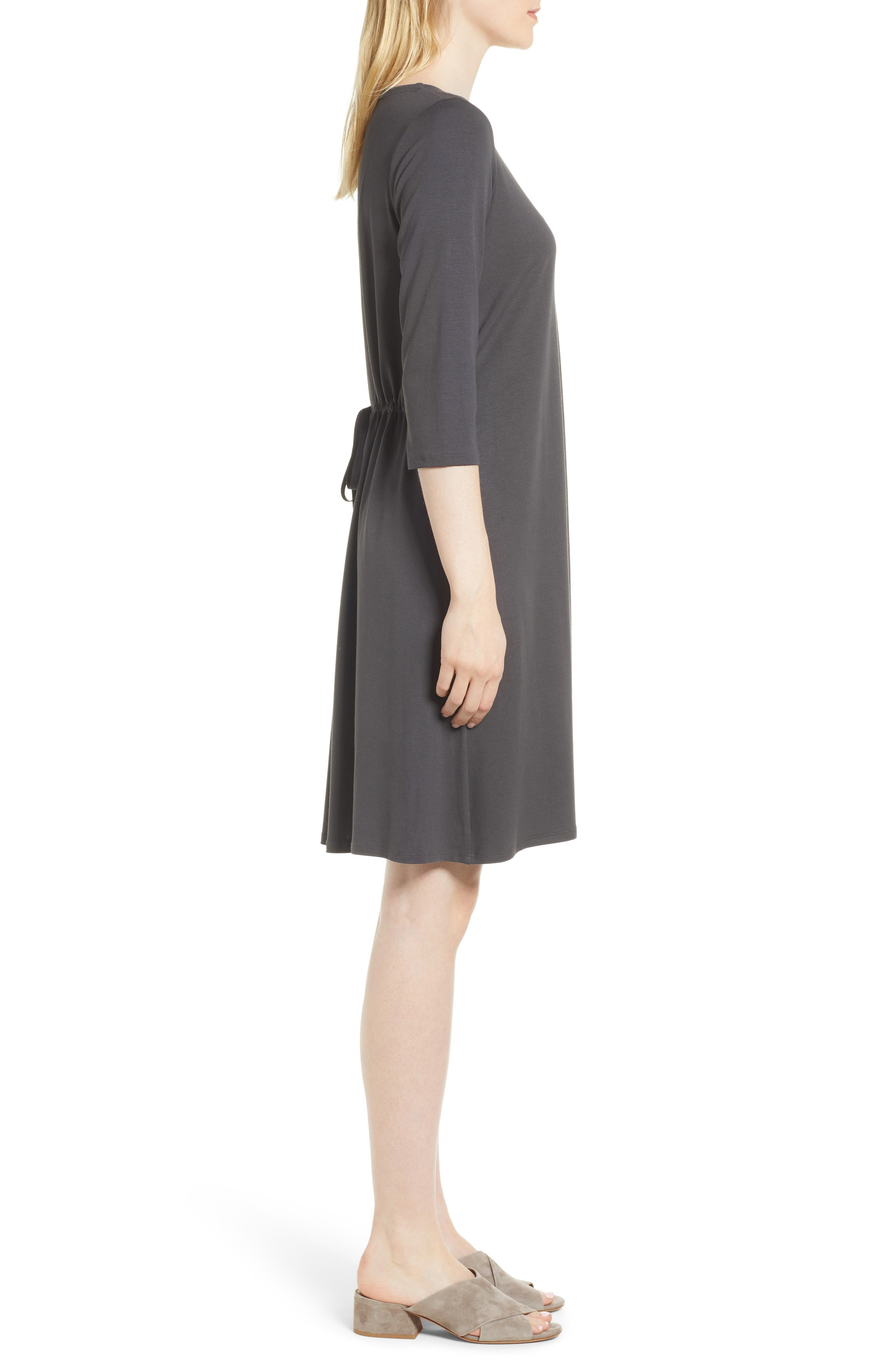 Alternate Image 3  - Eileen Fisher Tie Back Dress (Regular & Petite)