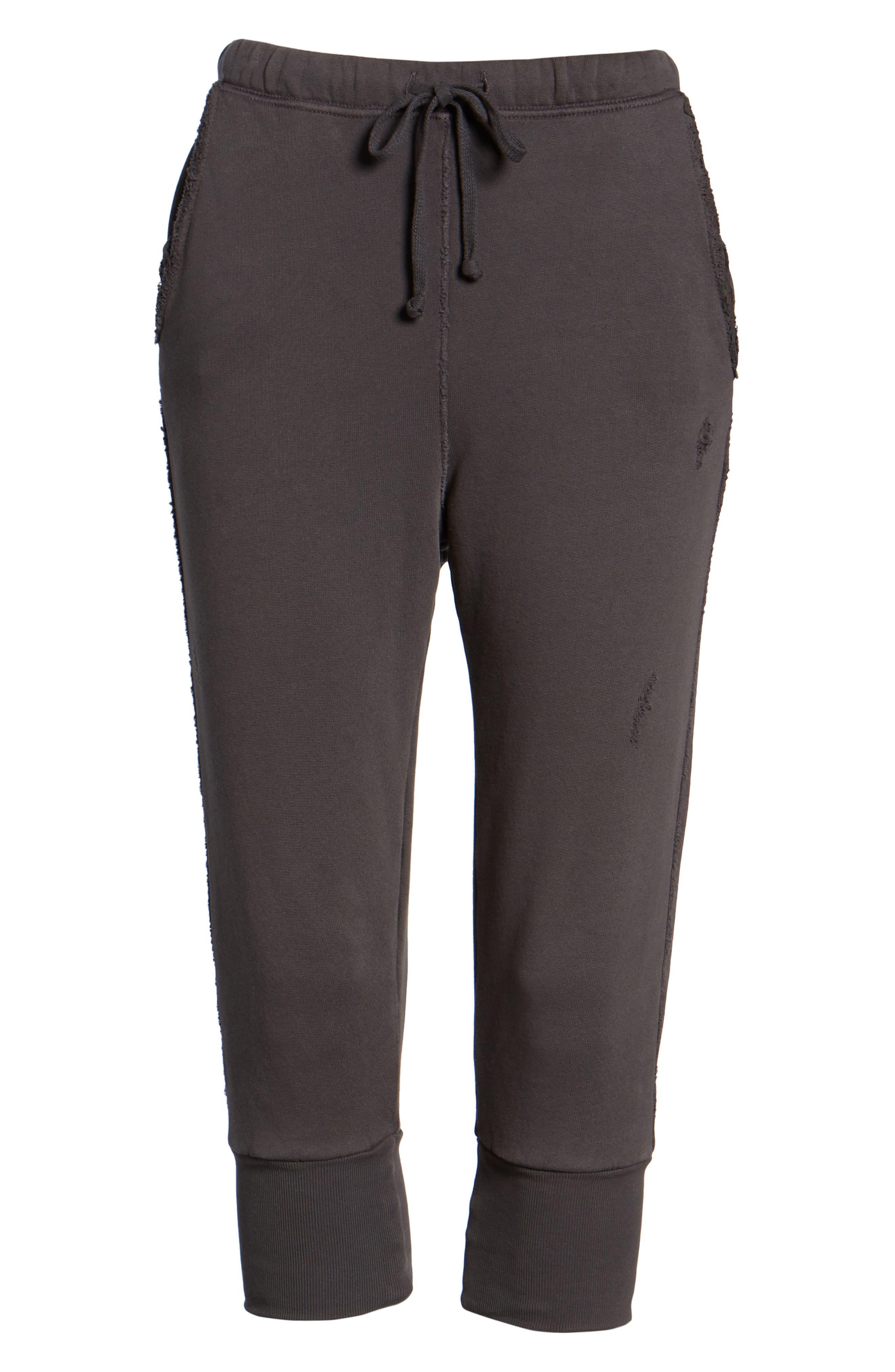 Crop Sweatpants,                             Alternate thumbnail 7, color,                             Carbon