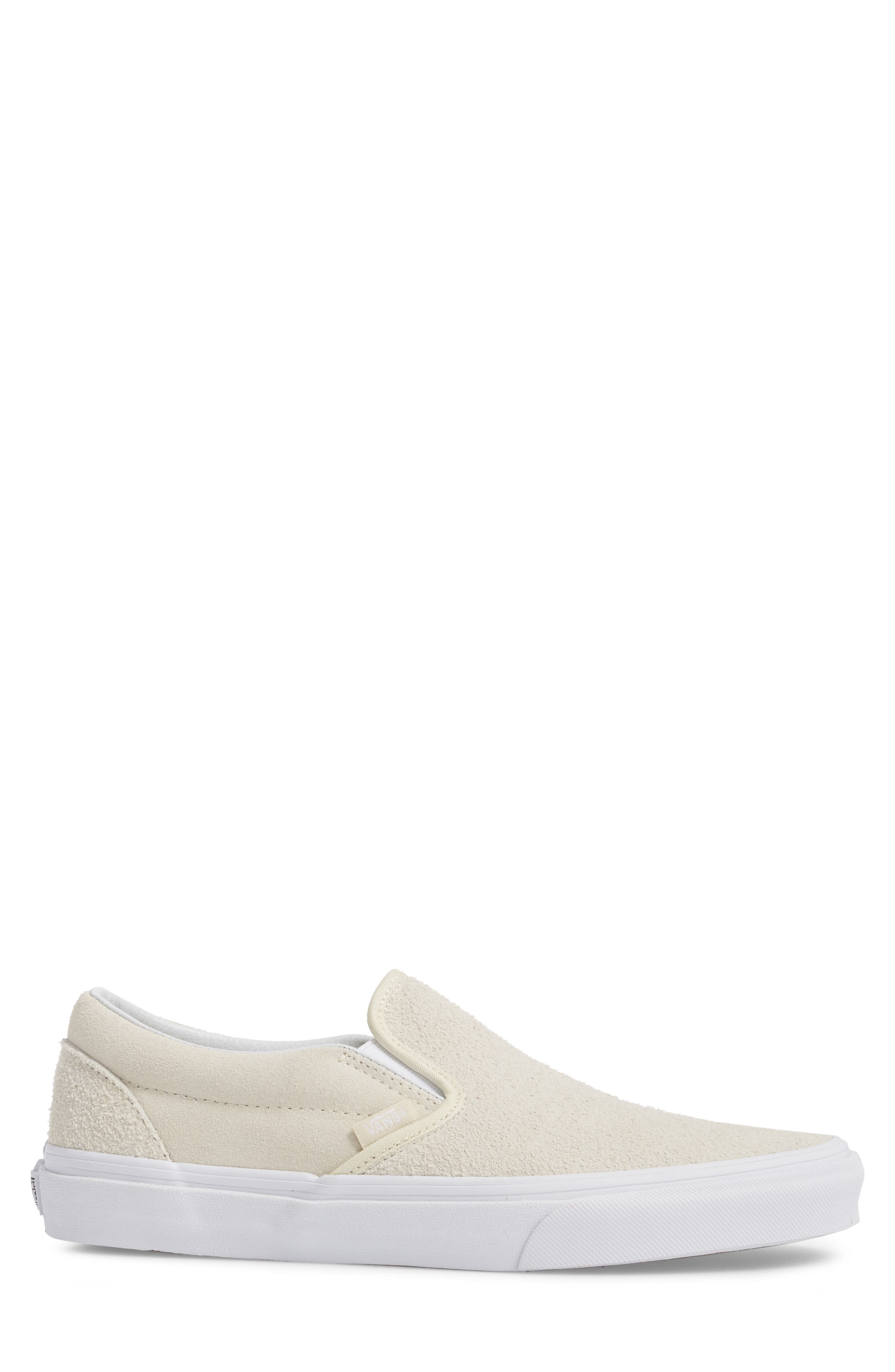 Classic Hairy Suede Slip-On Sneaker,                             Alternate thumbnail 3, color,                             Turtledove Leather