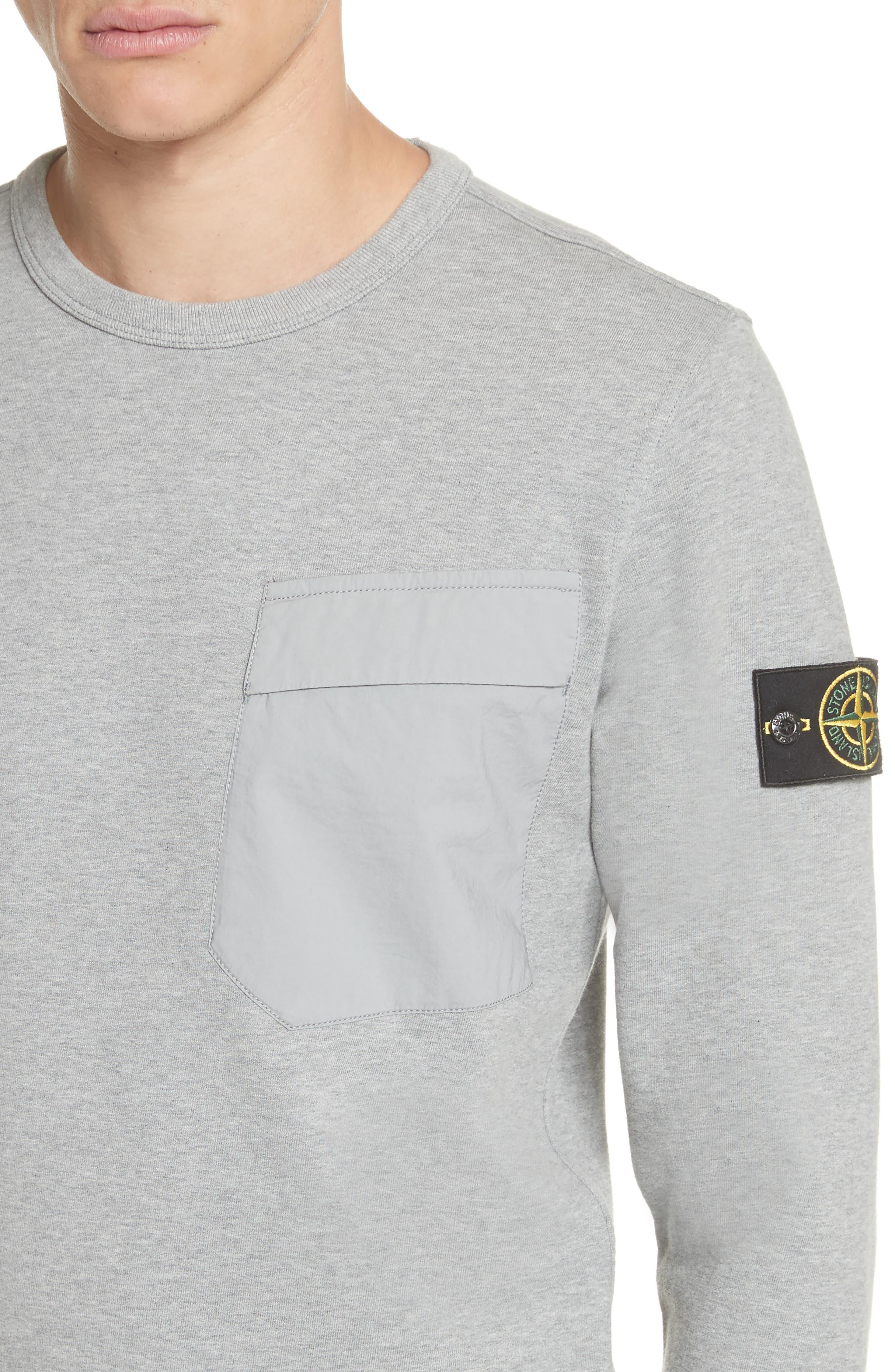 Pocket Sweatshirt,                             Alternate thumbnail 4, color,                             Grey