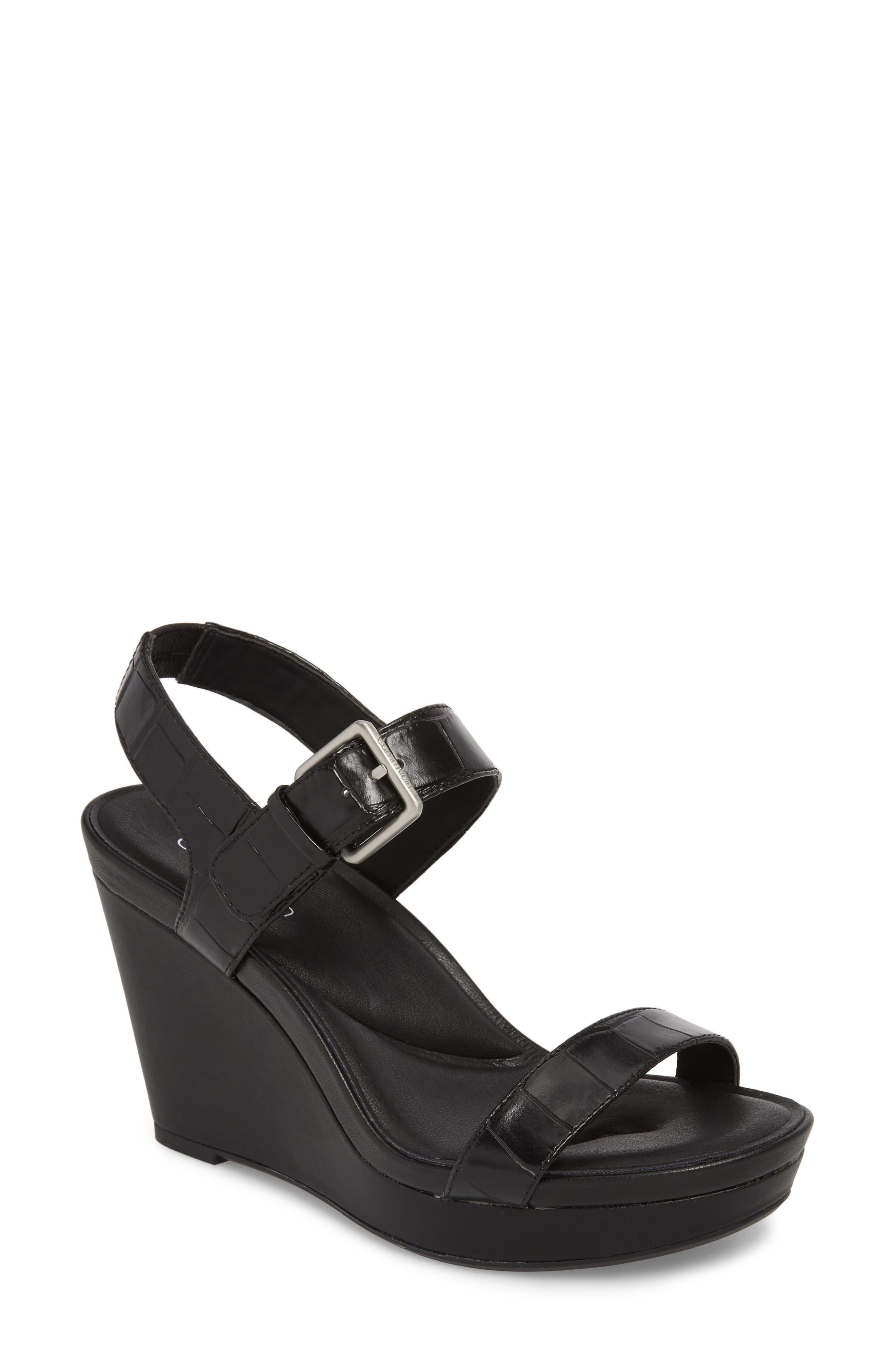 Alternate Image 1 Selected - Calvin Klein Jacie Wedge Sandal (Women)
