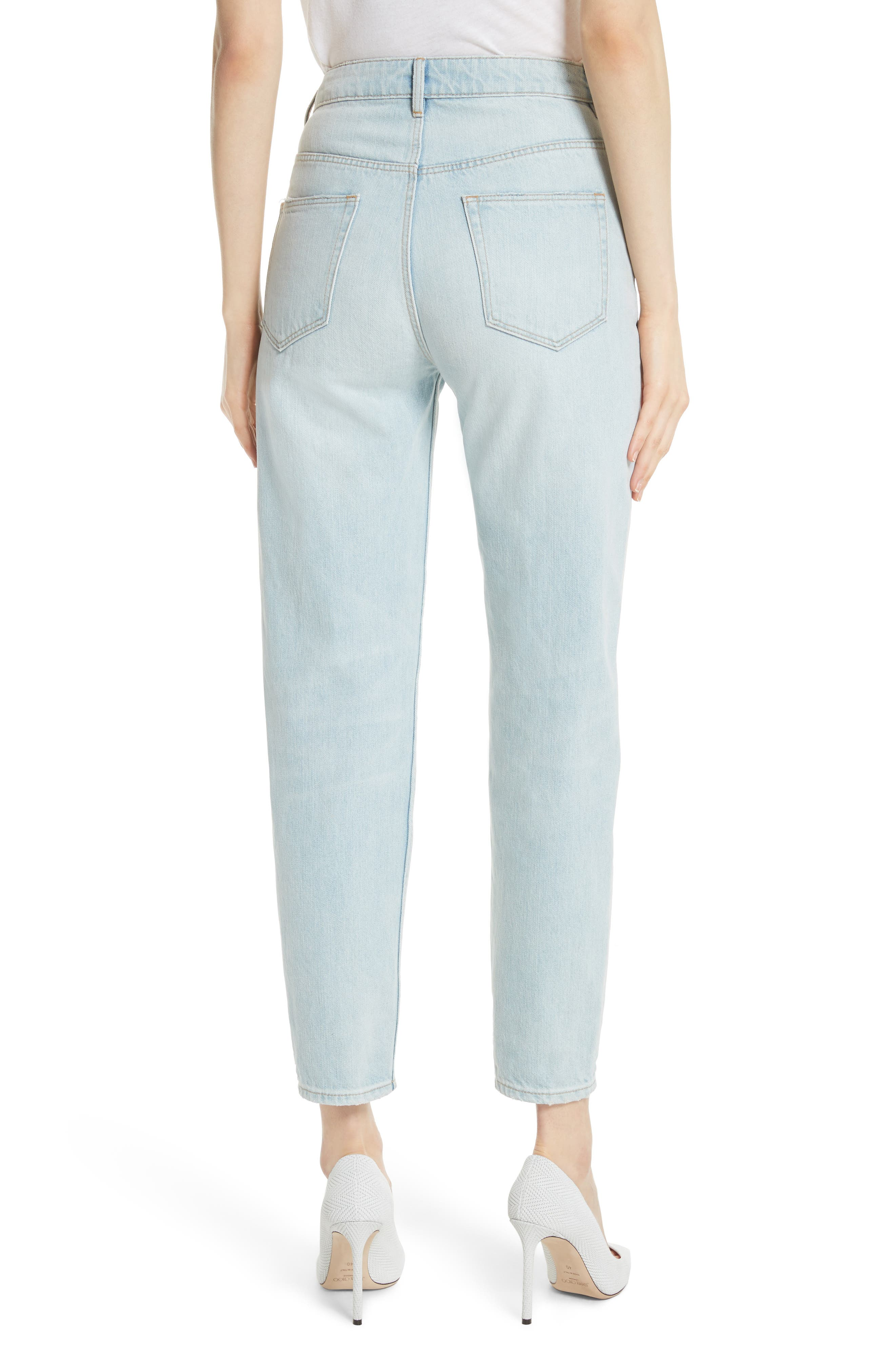 Tapered Jeans,                             Alternate thumbnail 2, color,                             Pale Blue Wash