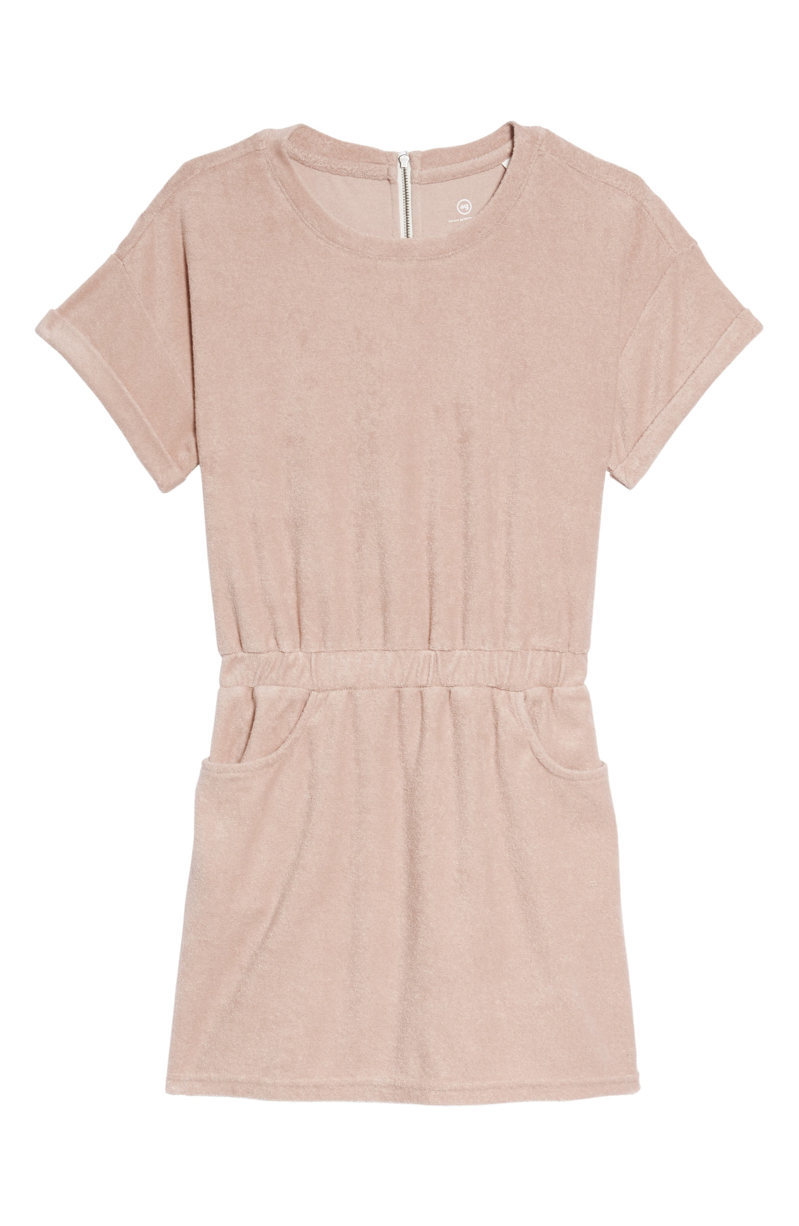 Elana French Terry Dress,                         Main,                         color, Pretty Pink