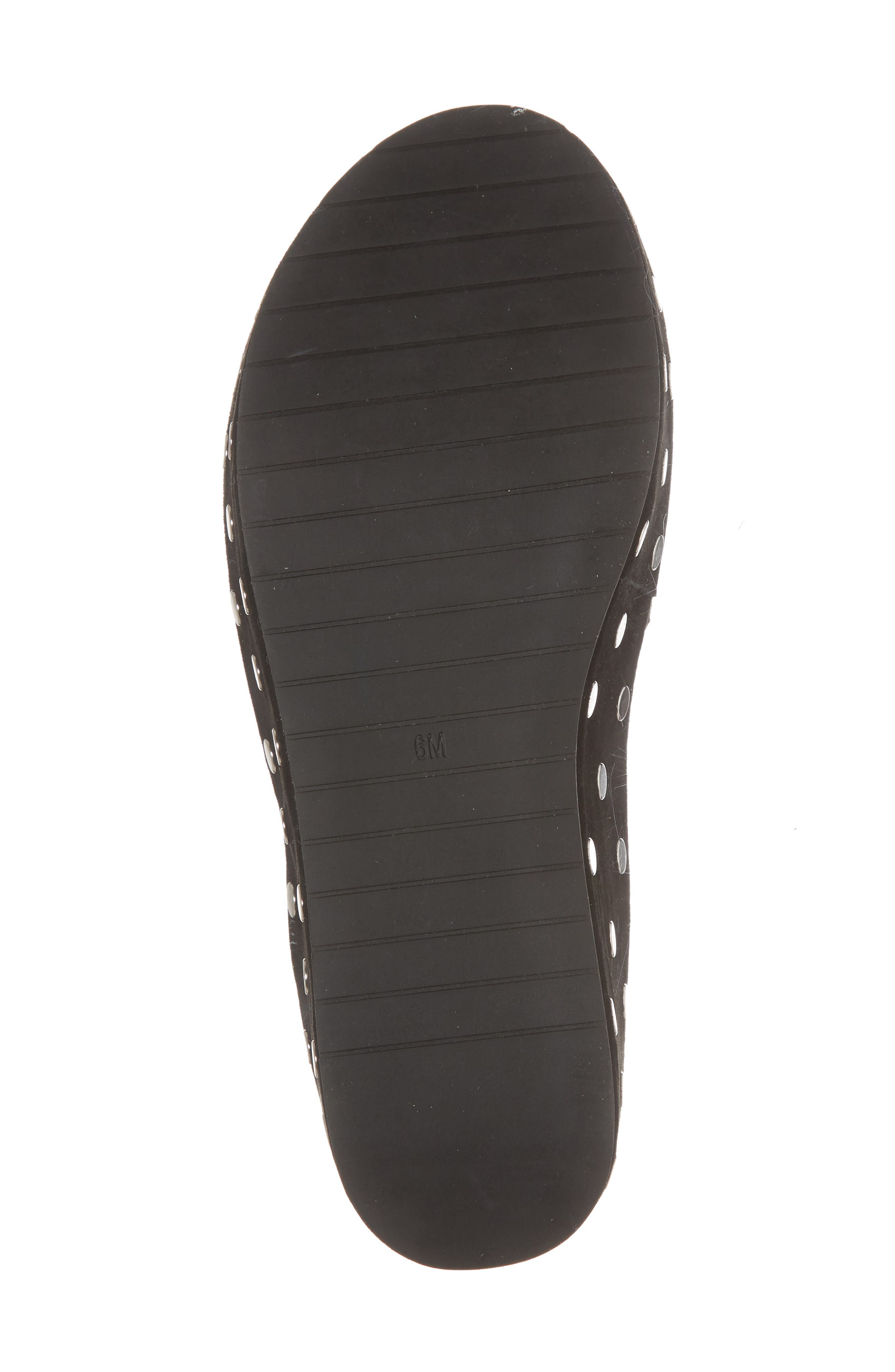 Danton Studs Platform Sandal,                             Alternate thumbnail 6, color,                             Black Suede