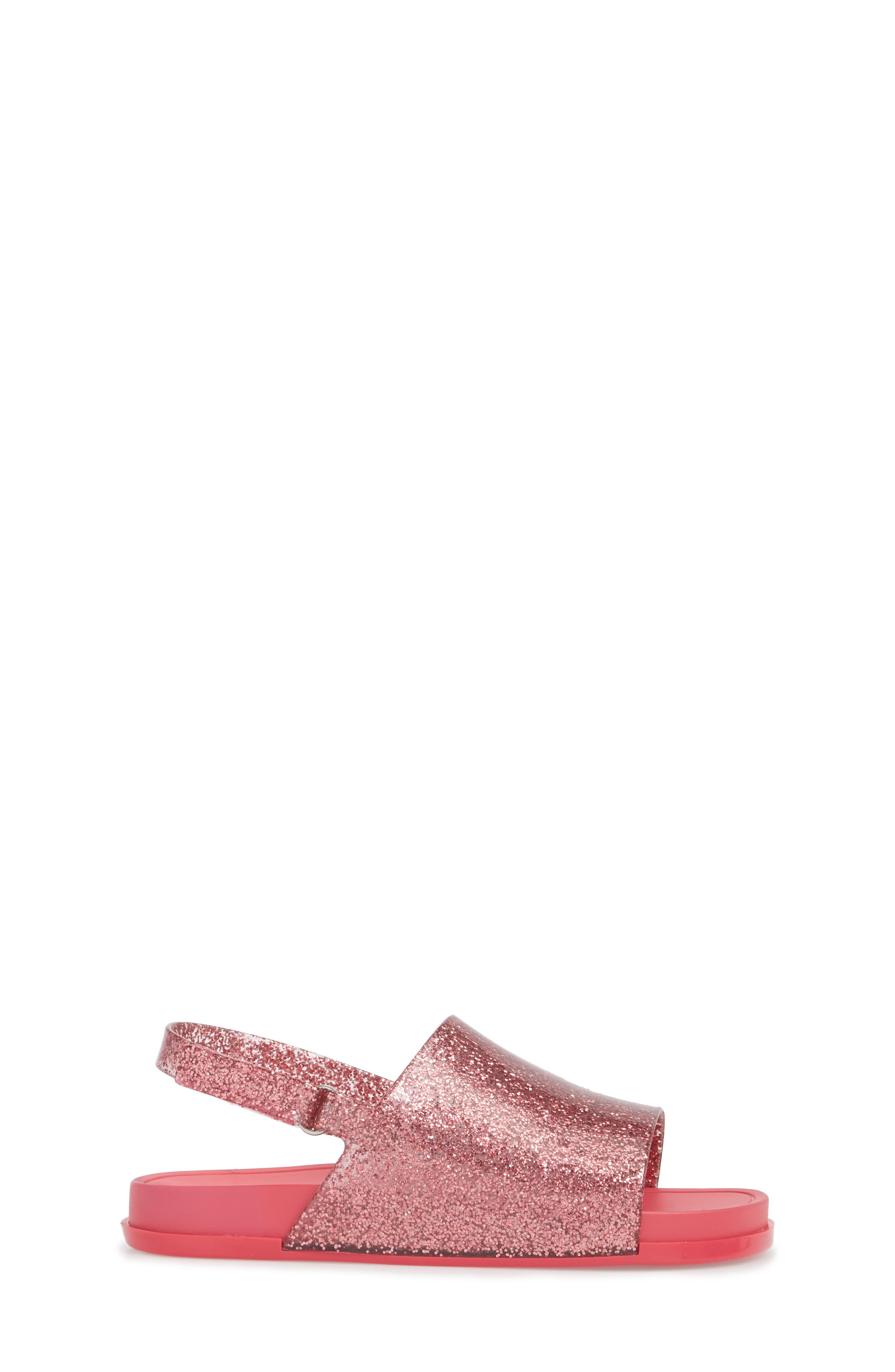Mini Beach Sandal,                             Alternate thumbnail 3, color,                             Pink Glitter