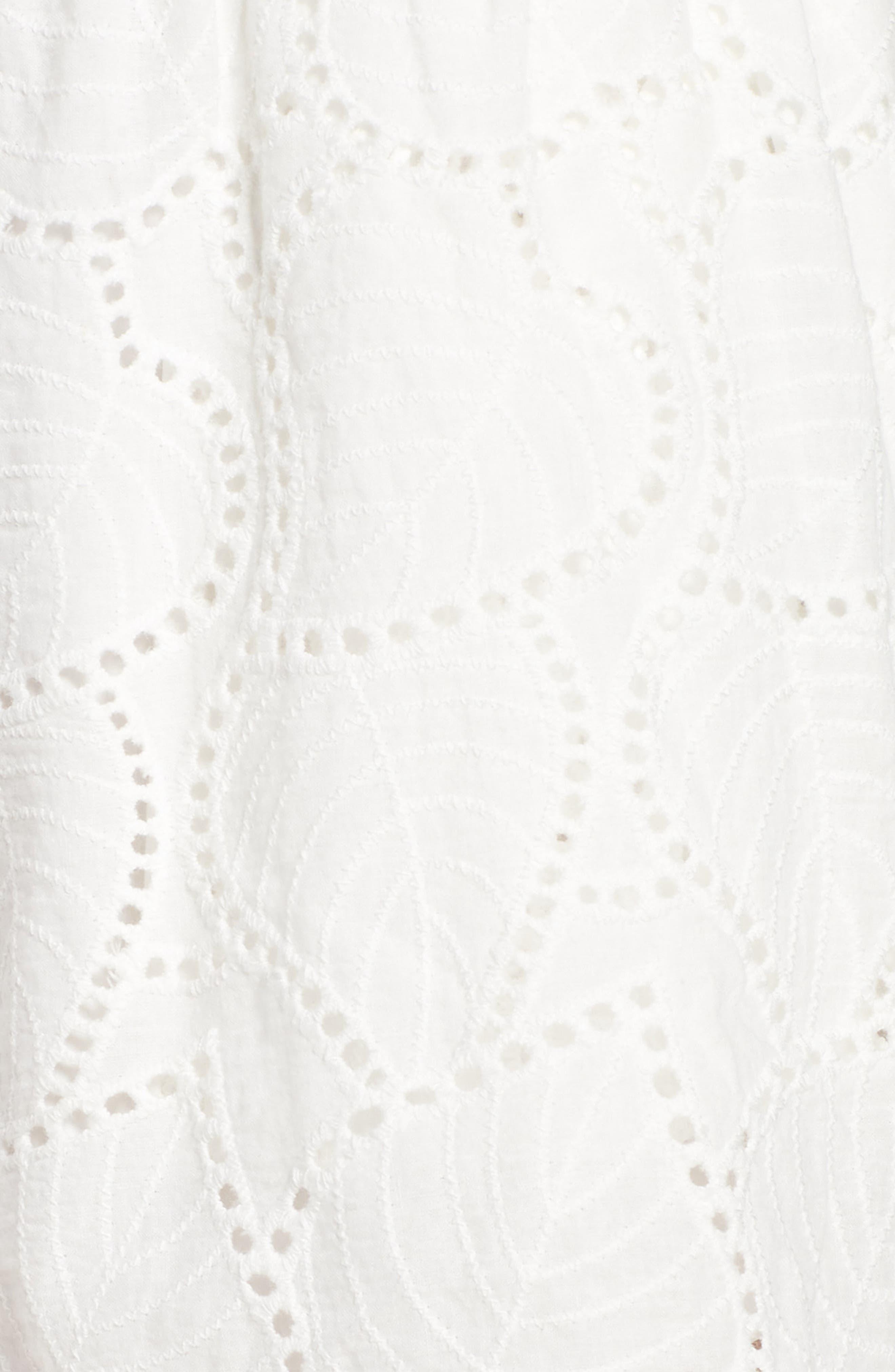 Bishop + Young Eyelet Shorts,                             Alternate thumbnail 5, color,                             White