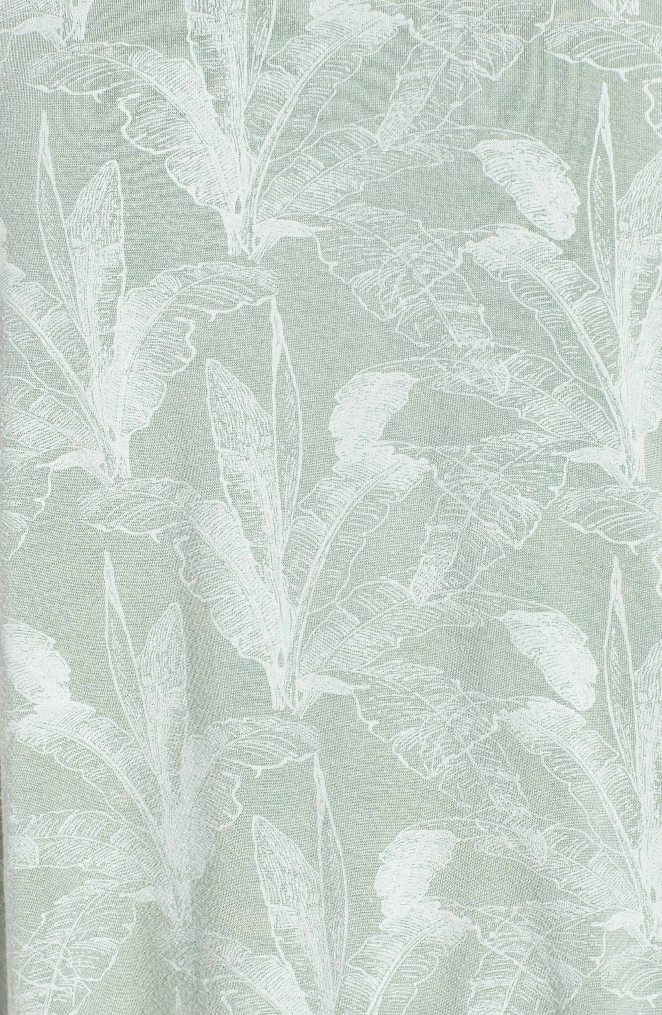 Suspension Print Stretch Modal Tee,                             Alternate thumbnail 6, color,                             Granite