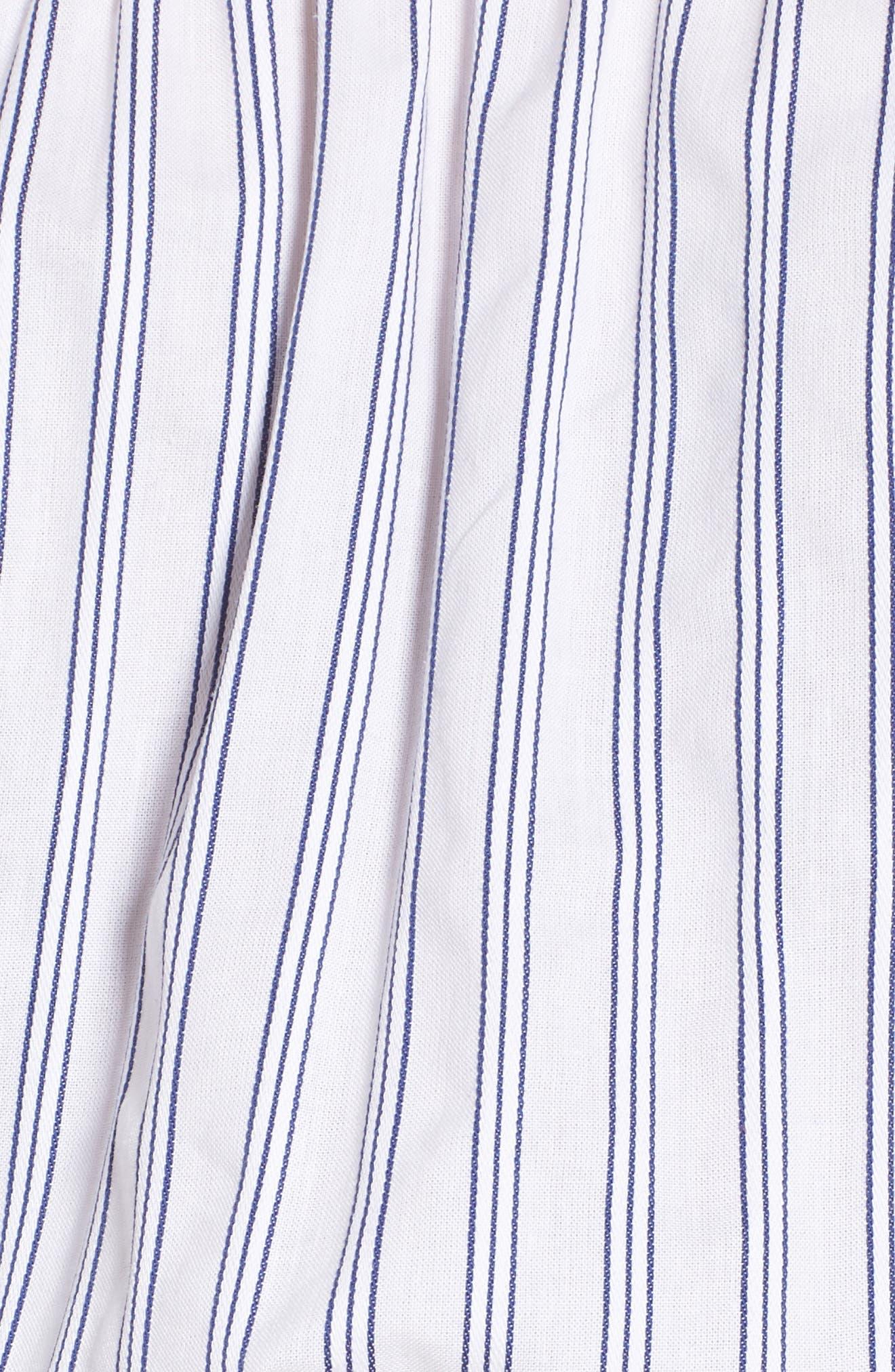 Barbados Stripe Off the Shoulder Dress,                             Alternate thumbnail 6, color,                             Blue