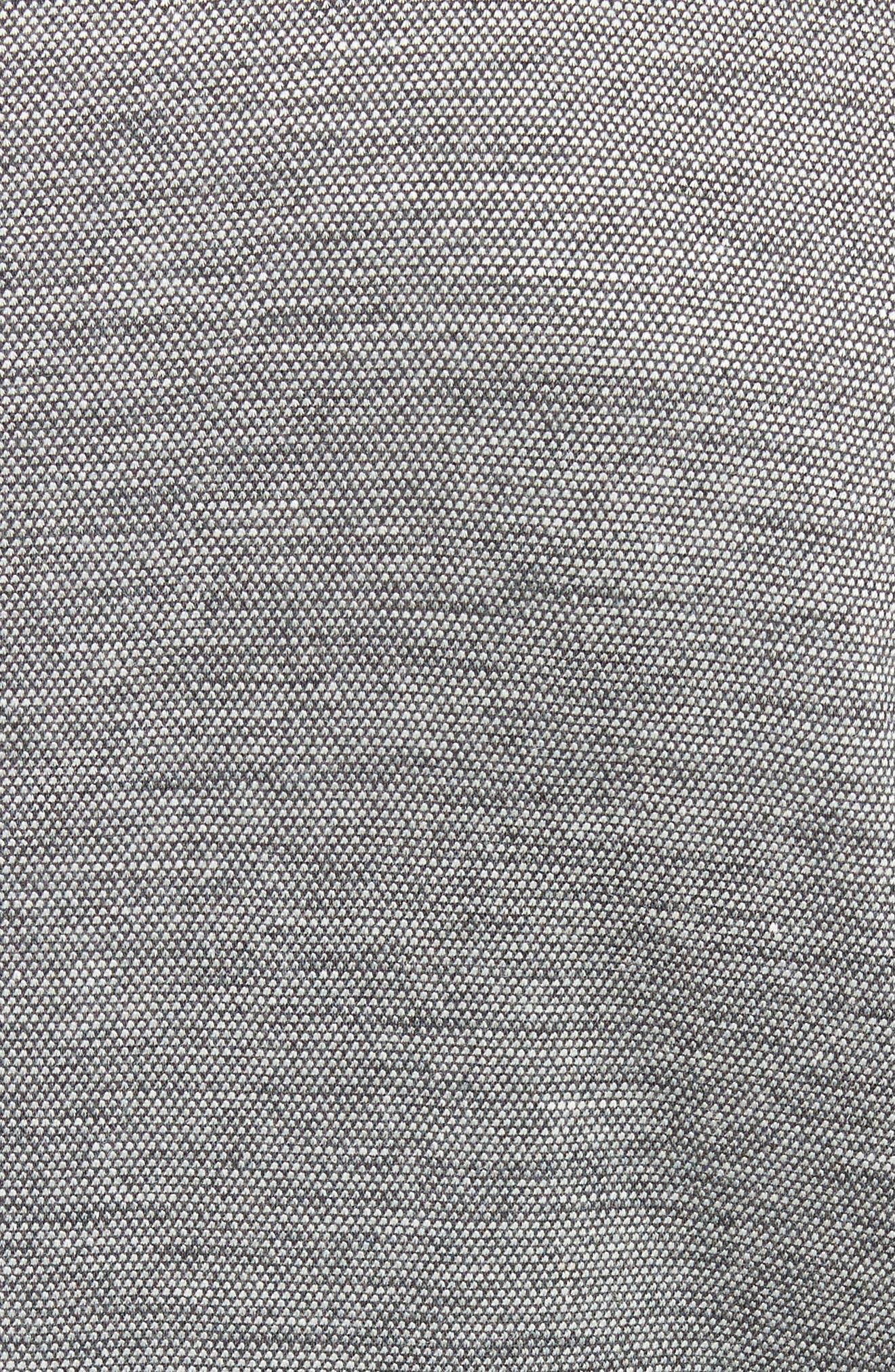 Zip Baseball Jacket,                             Alternate thumbnail 5, color,                             Med Grey