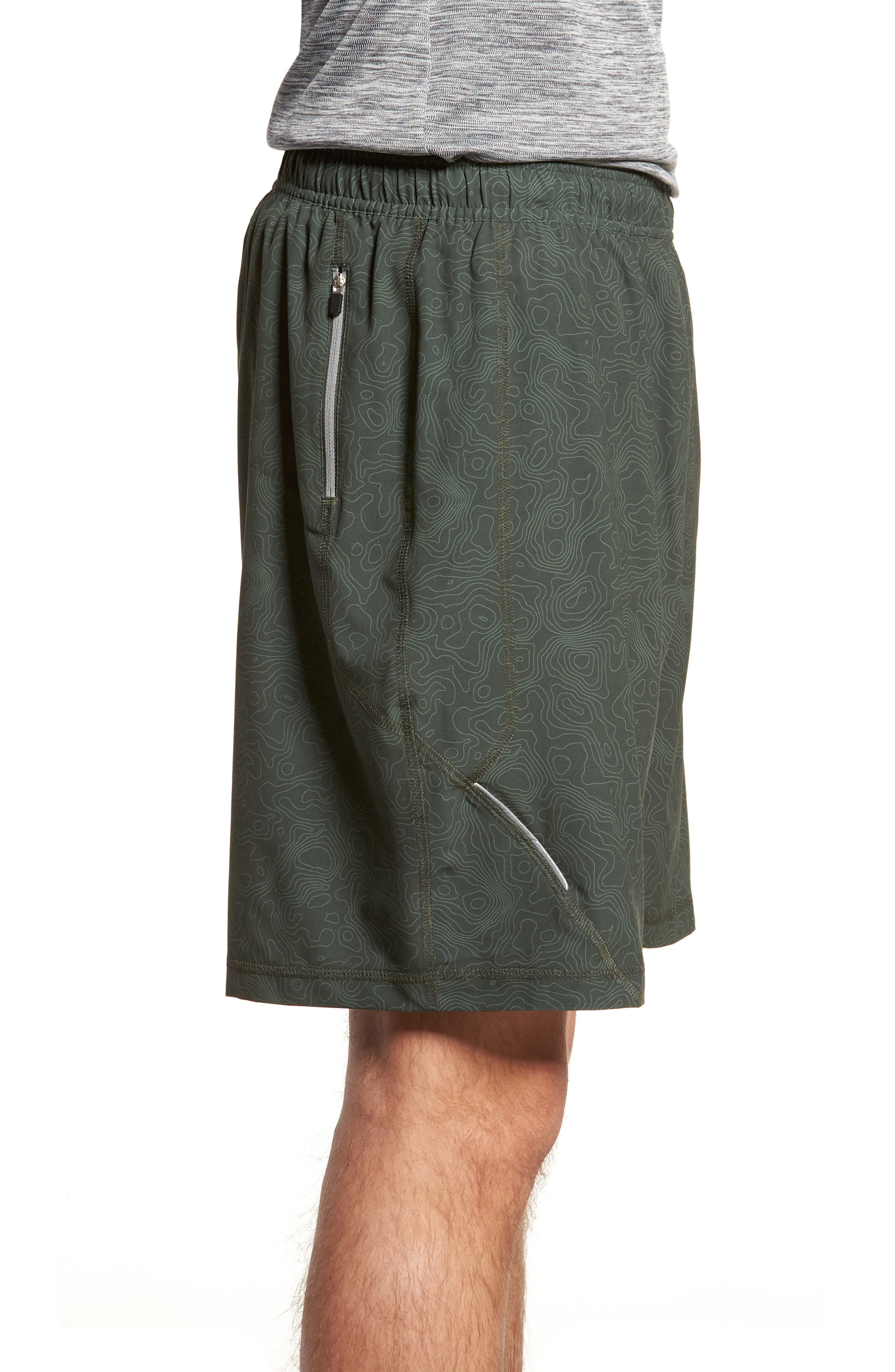 Propulsion Athletic Shorts,                             Alternate thumbnail 3, color,                             Topography