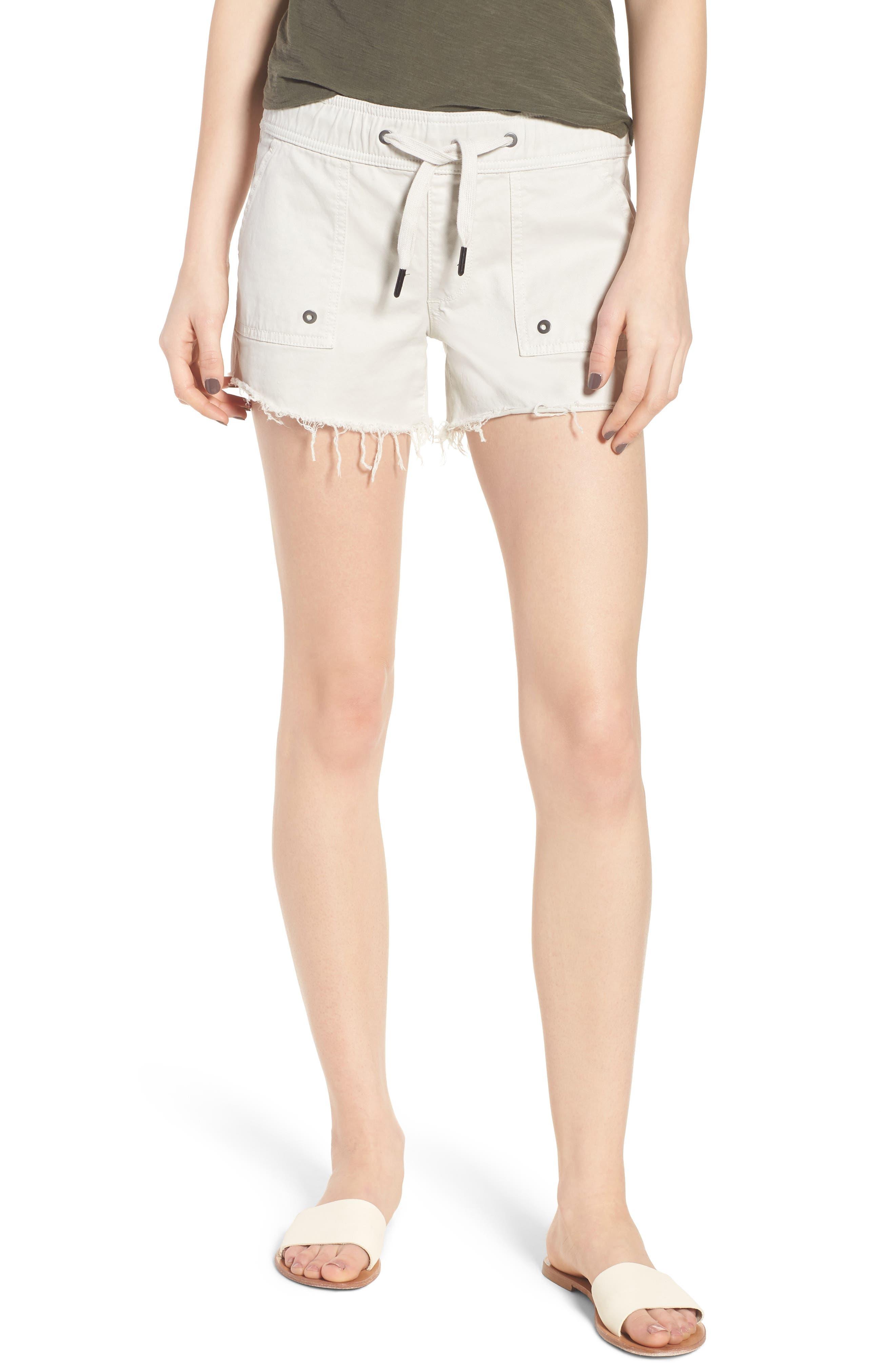 Flynn Low Rise Military Shorts,                         Main,                         color, Bone
