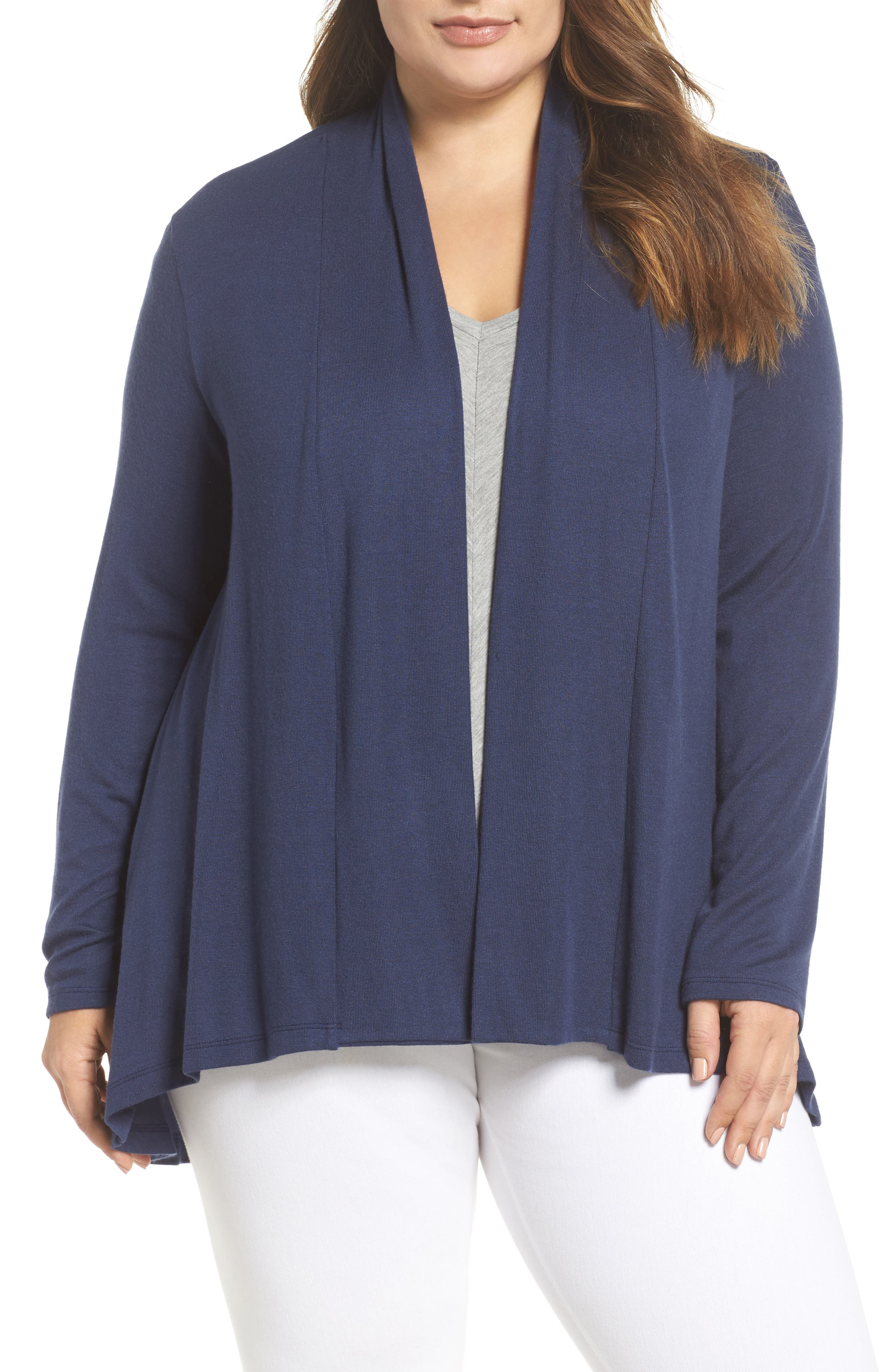 Bobeau High/Low Cardigan (Plus Size)