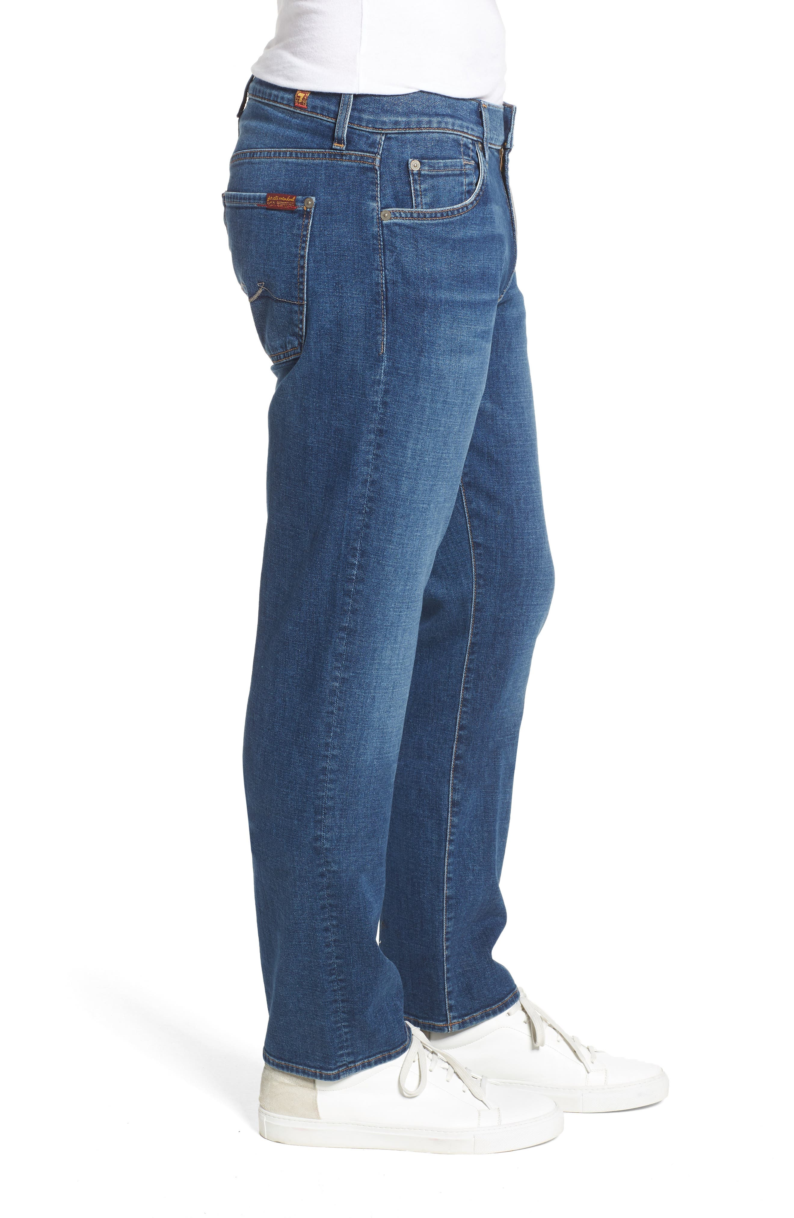 Standard Straight Leg Jeans,                             Alternate thumbnail 3, color,                             Oasis