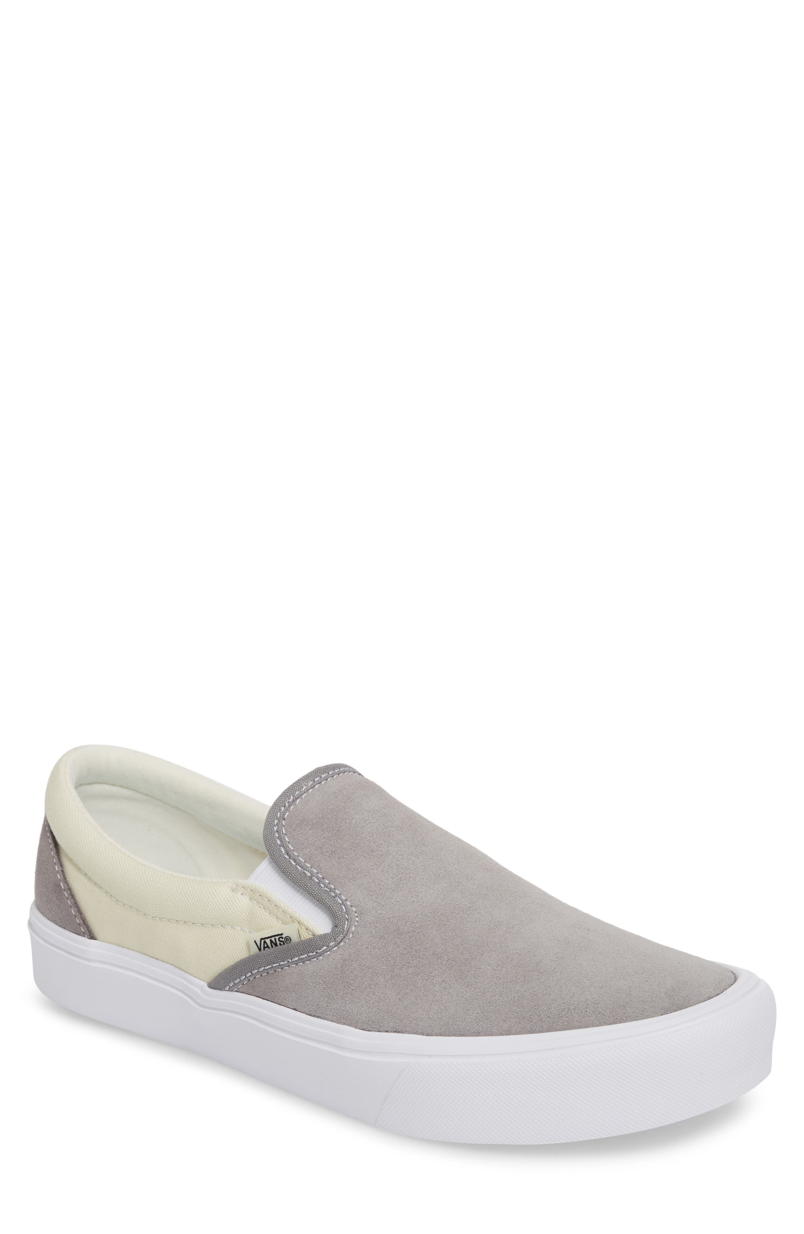 Lite Slip-On Sneaker,                         Main,                         color, Frost Grey/Marshmallow Leather