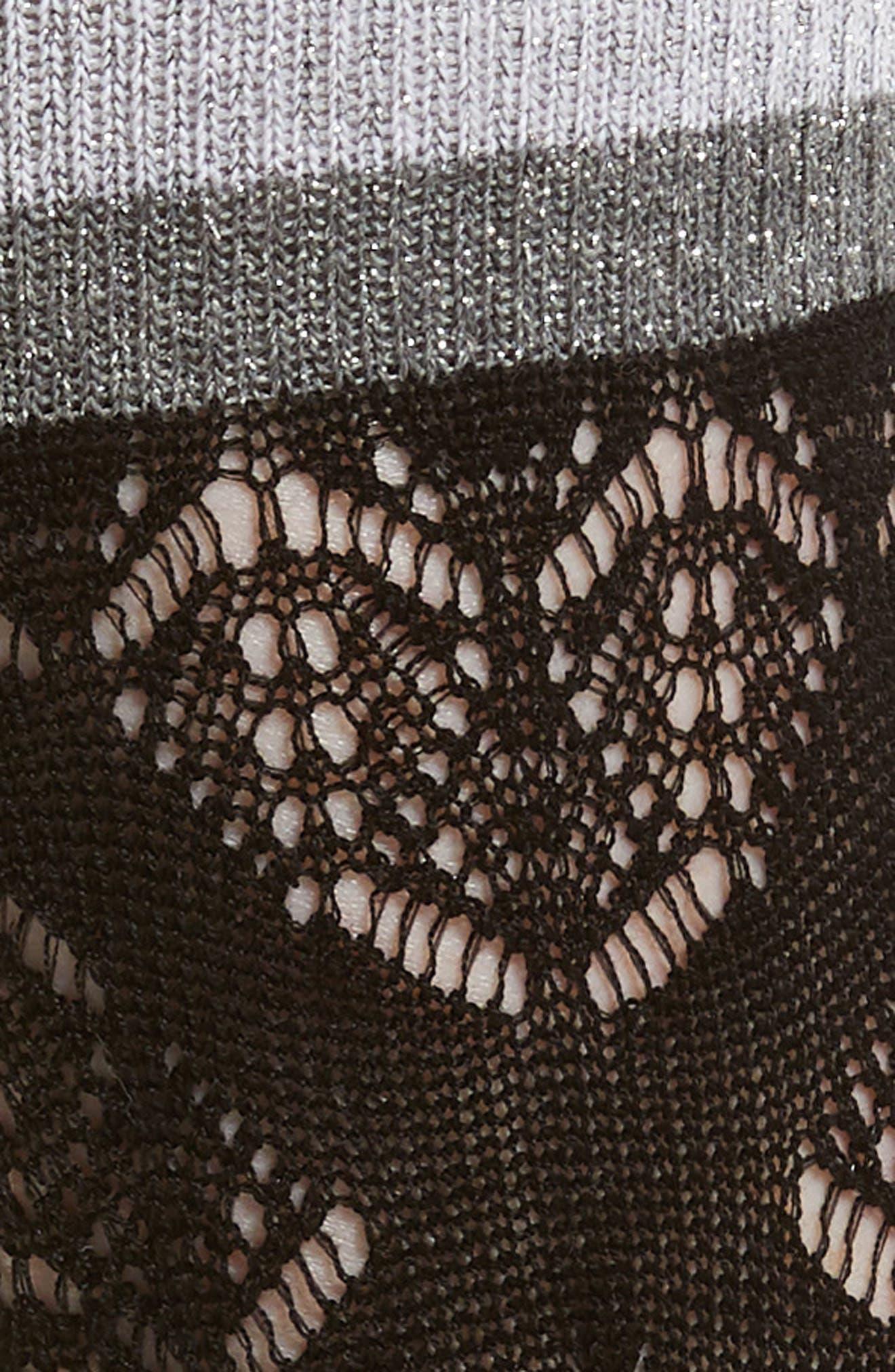 Croquet Trouser Socks,                             Alternate thumbnail 2, color,                             Black