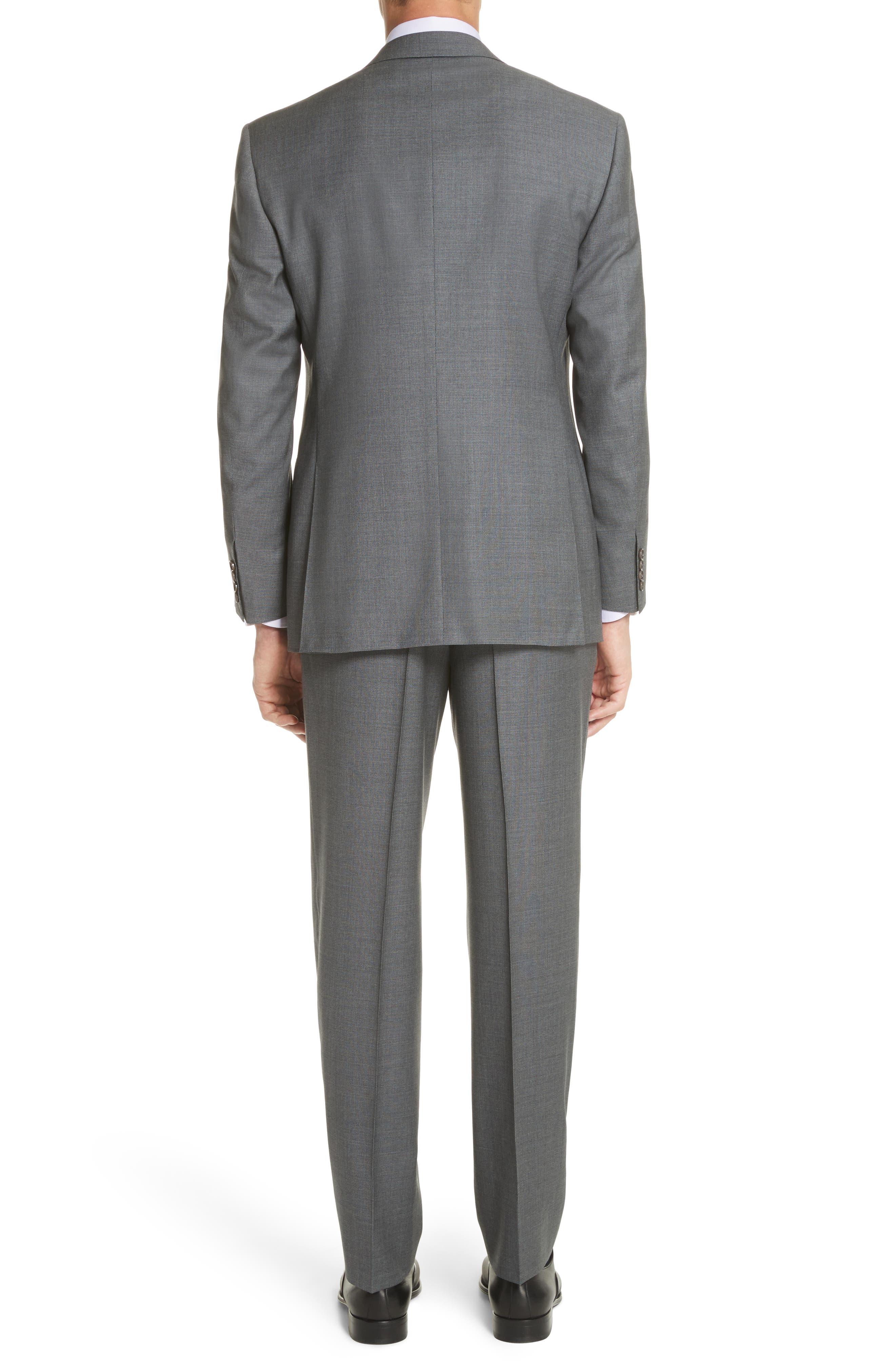 Classic Fit Wool Suit,                             Alternate thumbnail 2, color,                             Grey