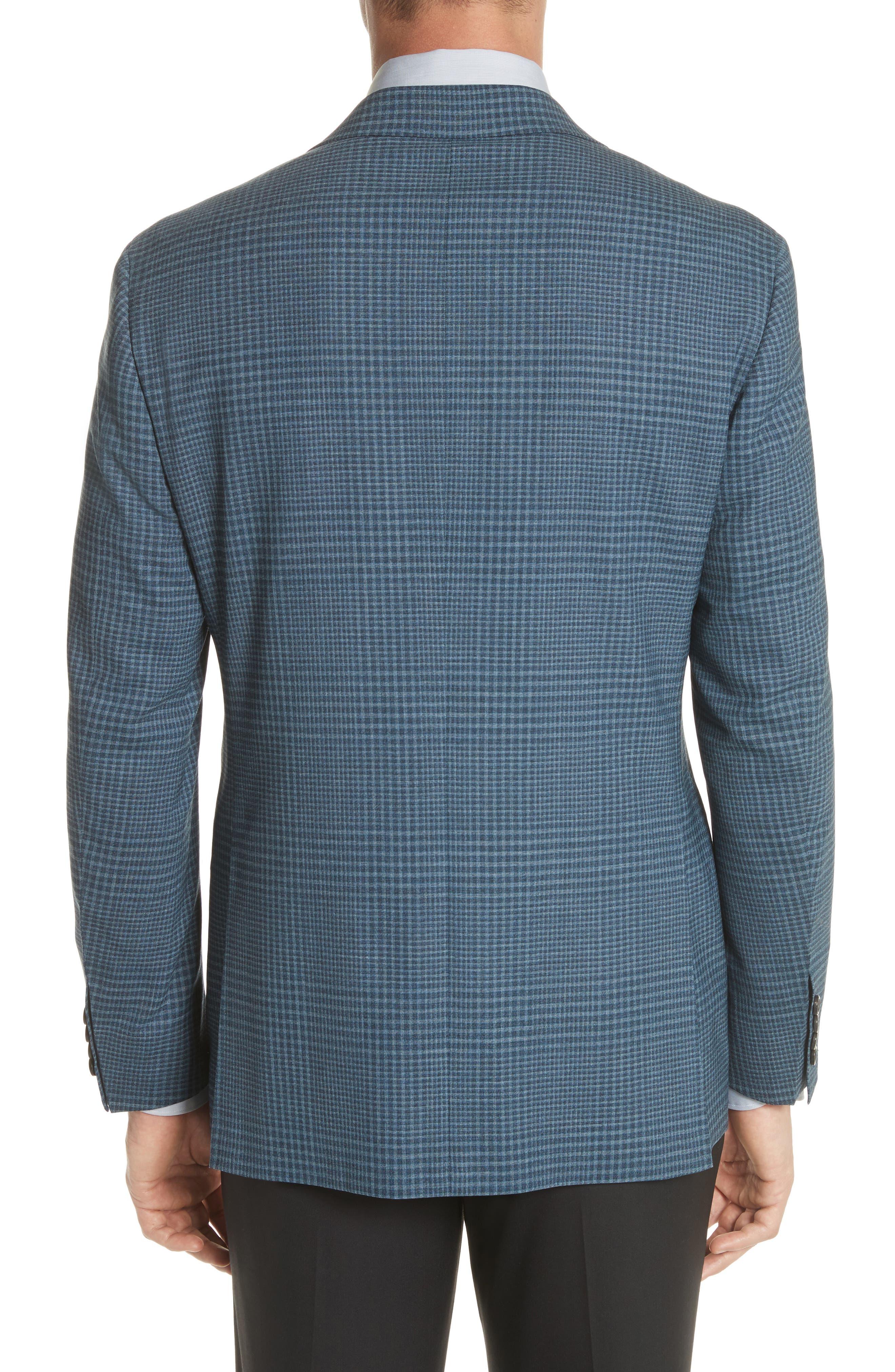 Kei Classic Fit Plaid Wool Sport Coat,                             Alternate thumbnail 2, color,                             Navy
