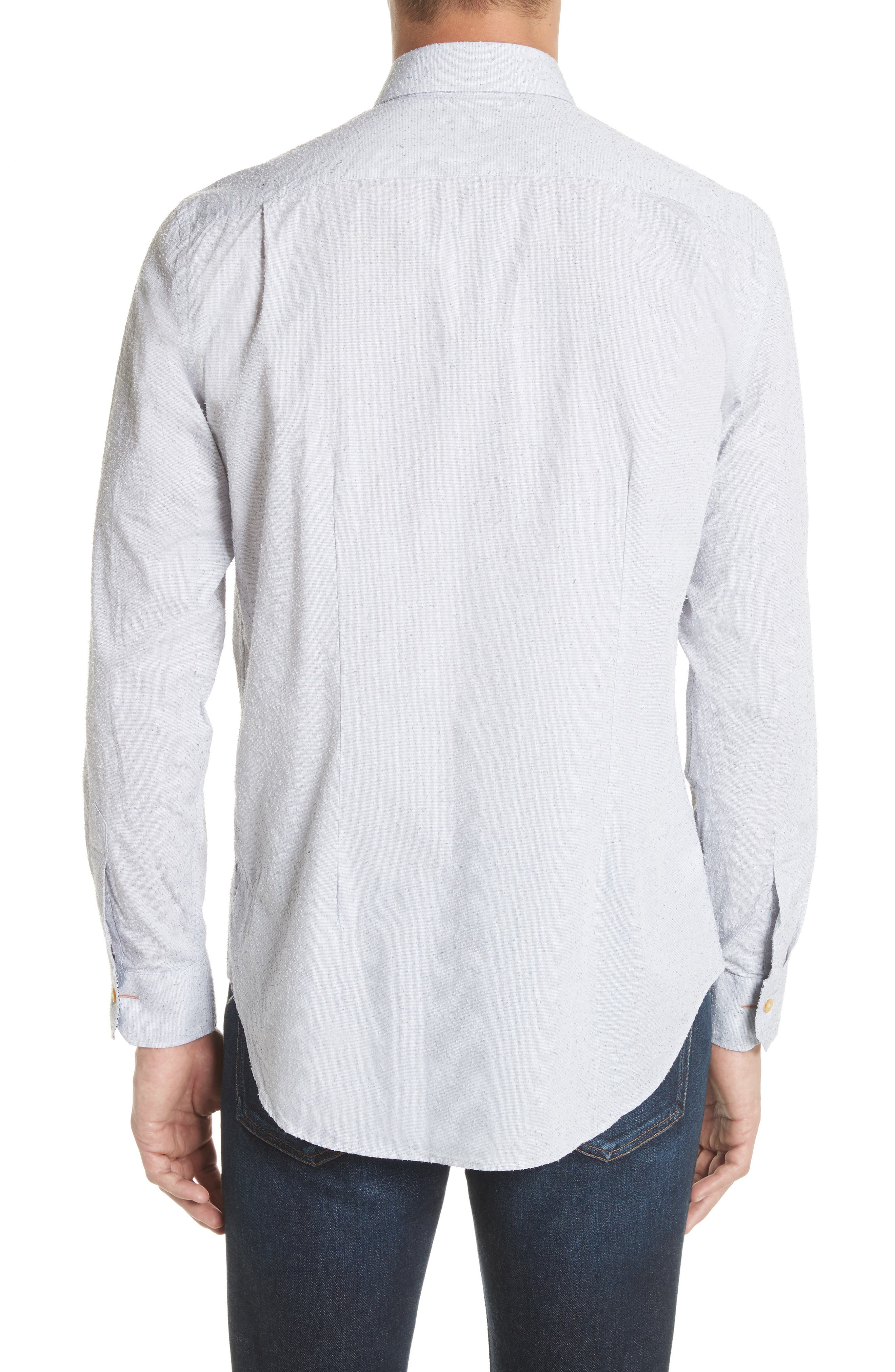 Nep Dot Woven Shirt,                             Alternate thumbnail 3, color,                             Blue