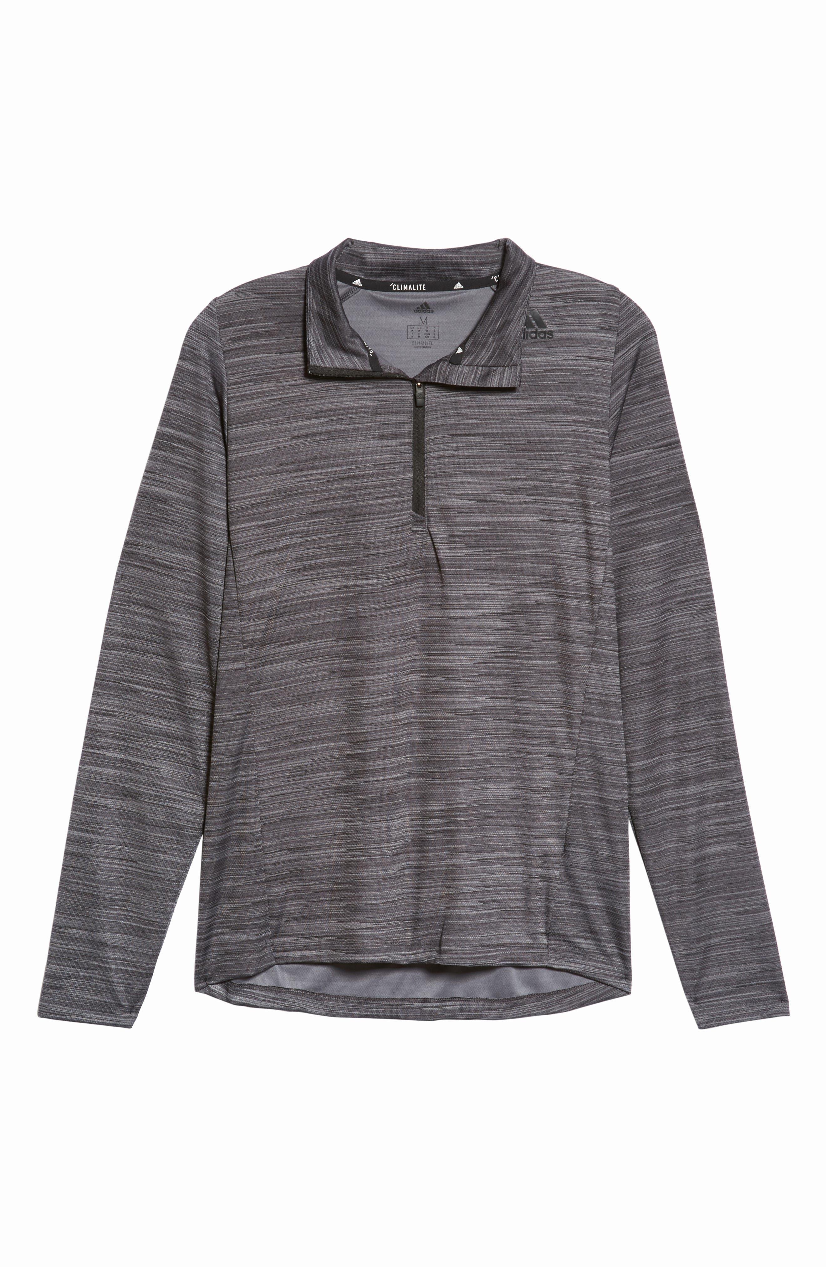 Ultimate Tech Quarter Zip Pullover,                             Alternate thumbnail 6, color,                             Carbon