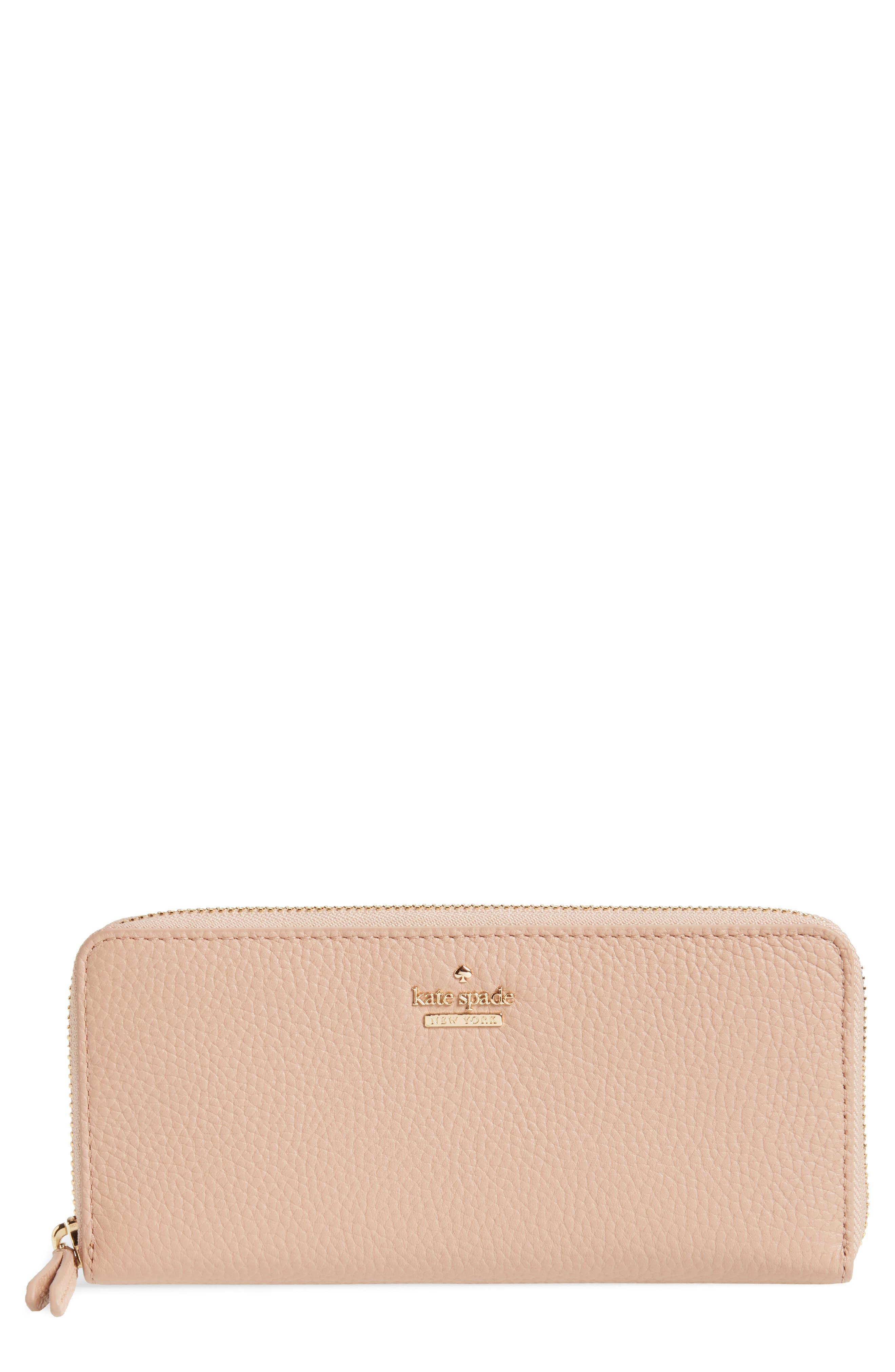 trent hill lindsey leather wallet,                         Main,                         color, Ginger Tea