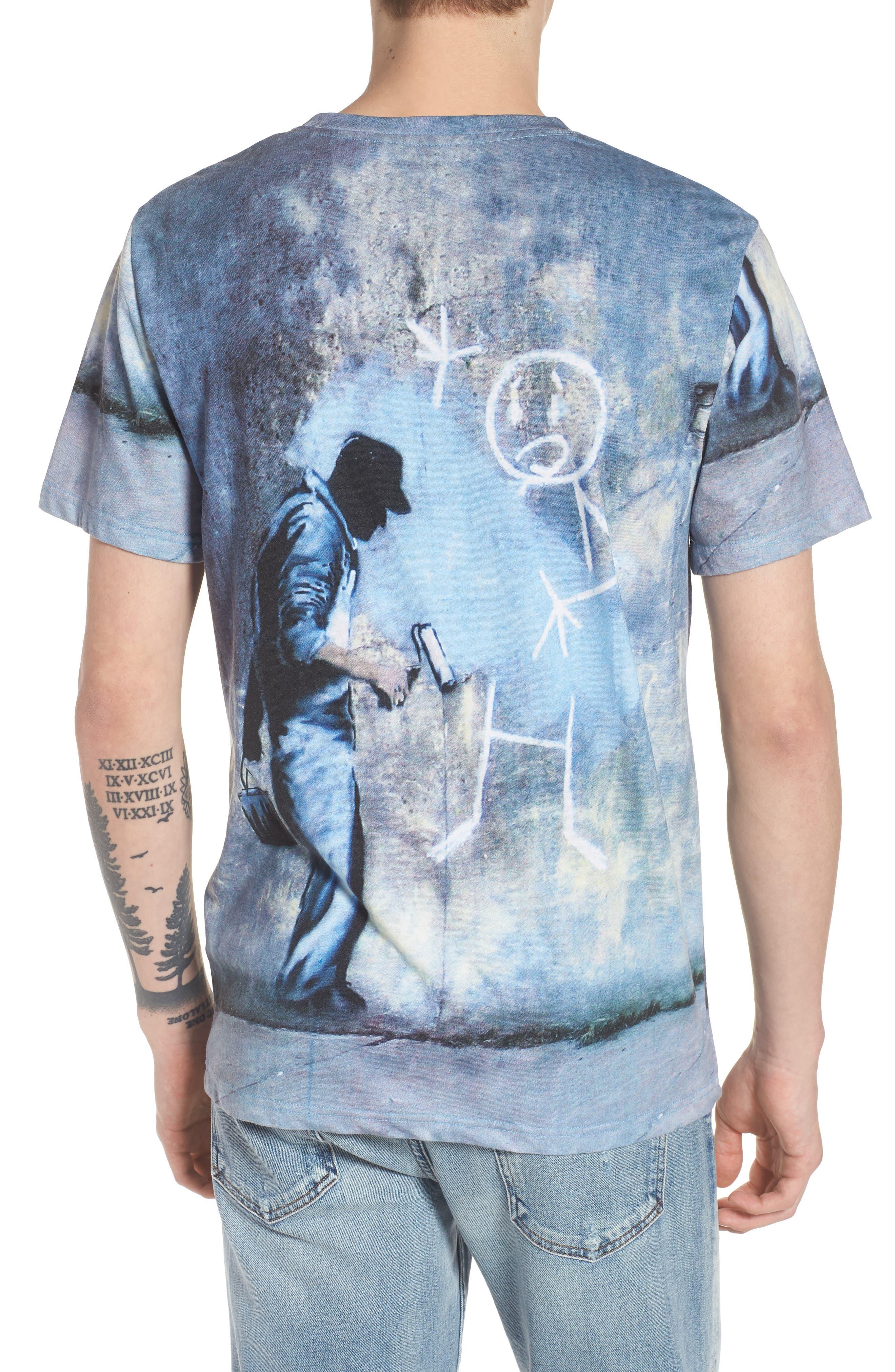 Grey Ghost T-Shirt,                             Alternate thumbnail 2, color,                             Blue/White