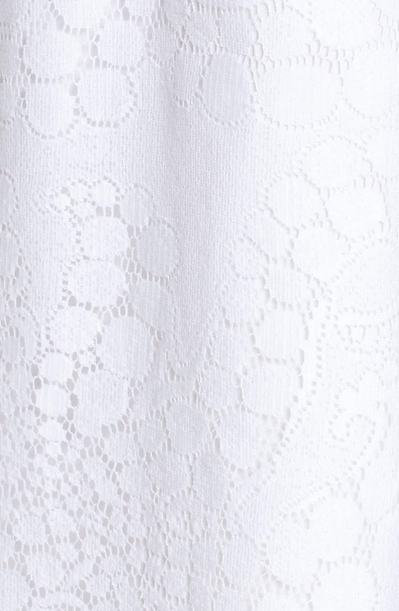 Jane Lace Shift Dress,                             Alternate thumbnail 6, color,                             Resort White Mocean Lace