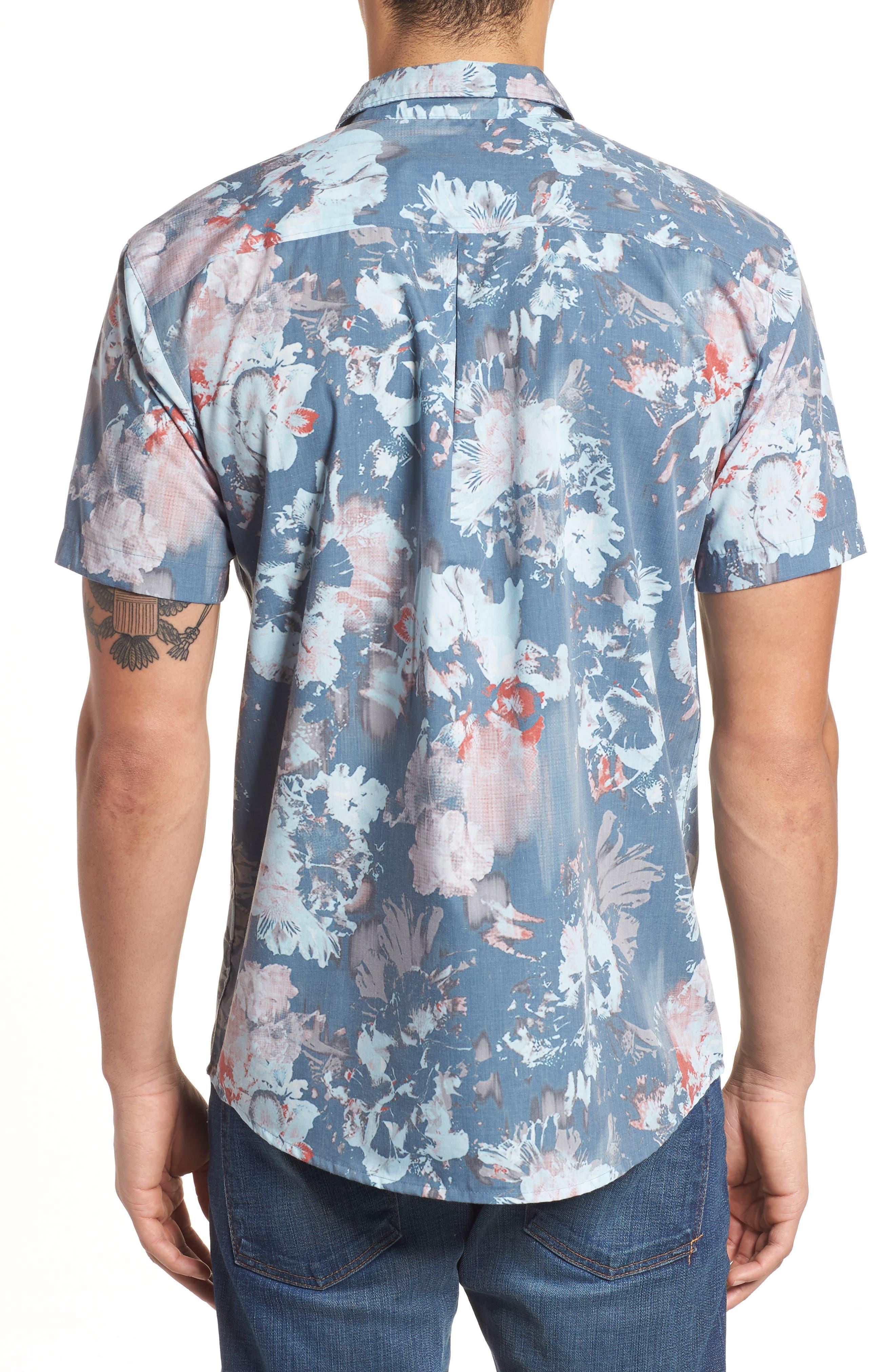 Perennial Woven Shirt,                             Alternate thumbnail 3, color,                             Dust Blue