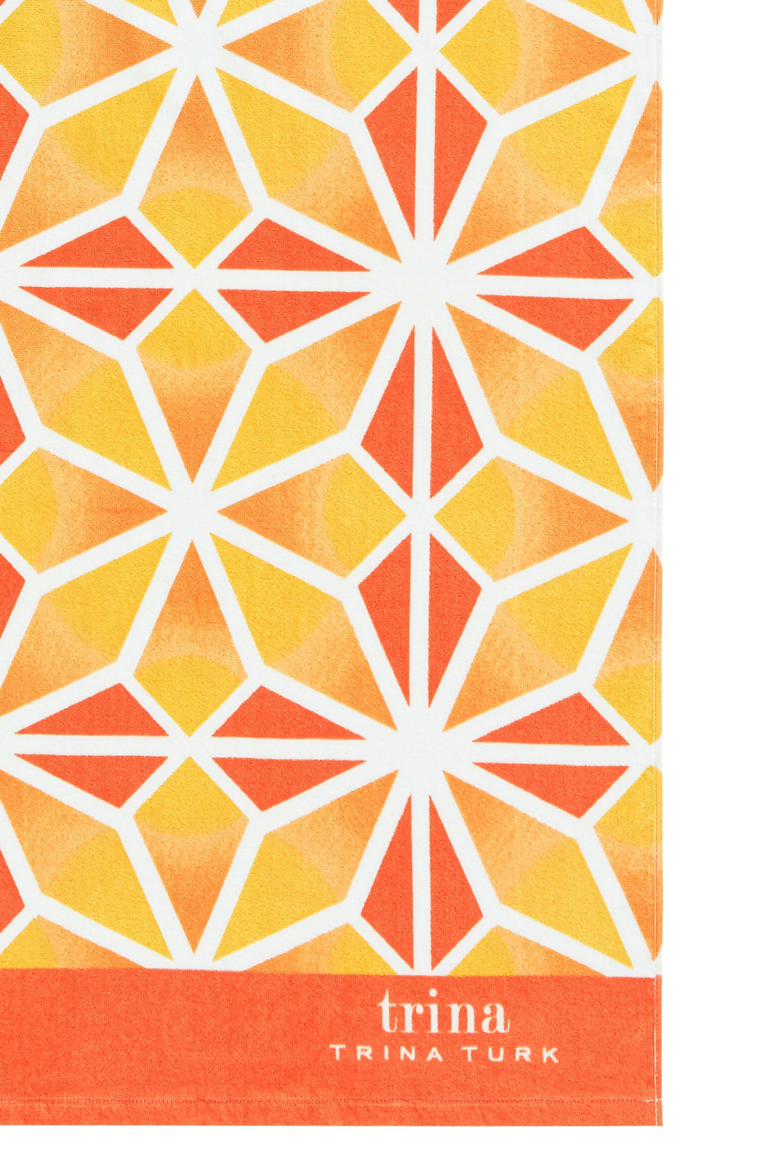 Mojave Beach Towel,                             Alternate thumbnail 2, color,                             Orange