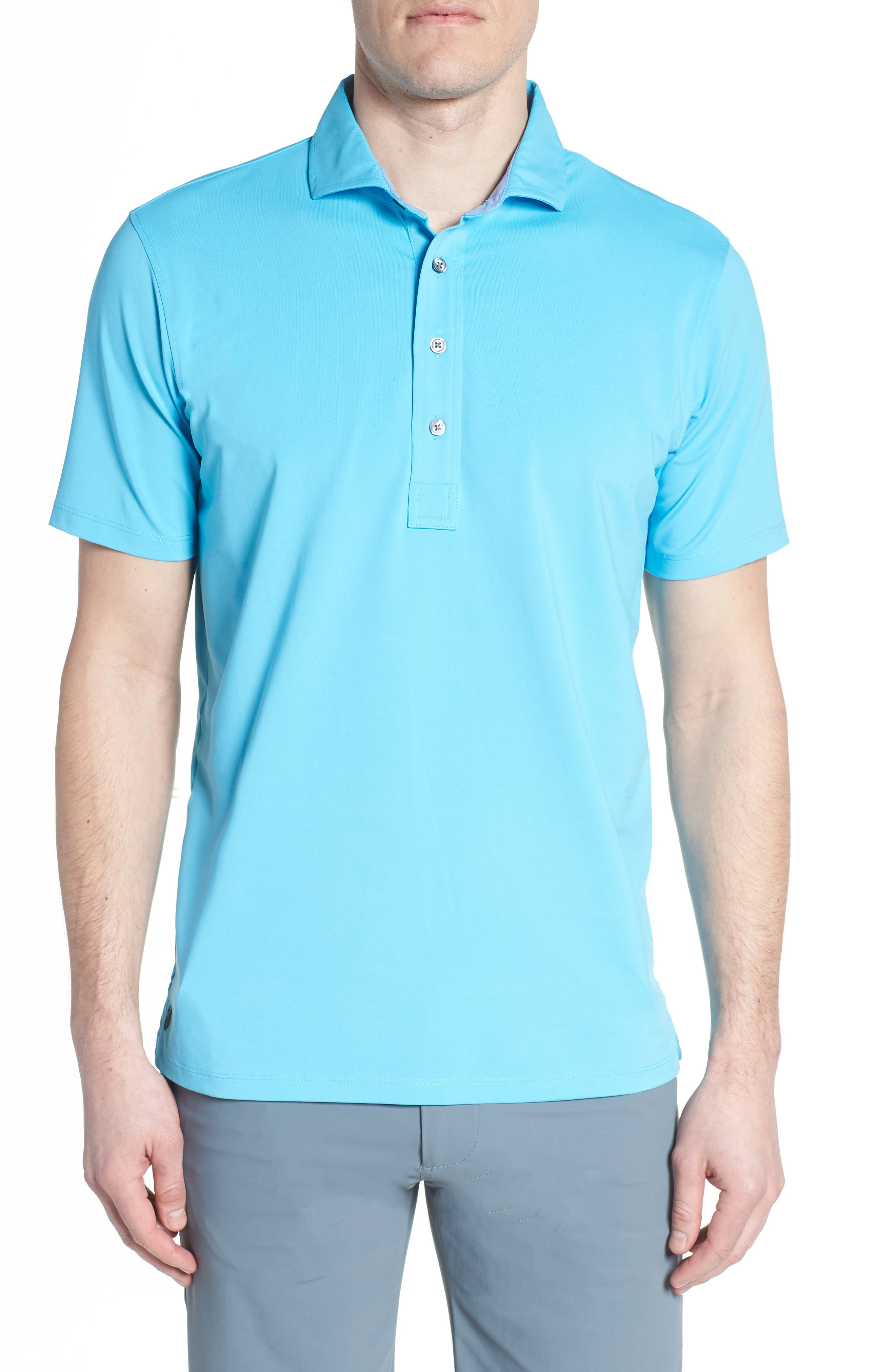 Tala Airflow Jersey Polo,                             Main thumbnail 1, color,                             Barracuda