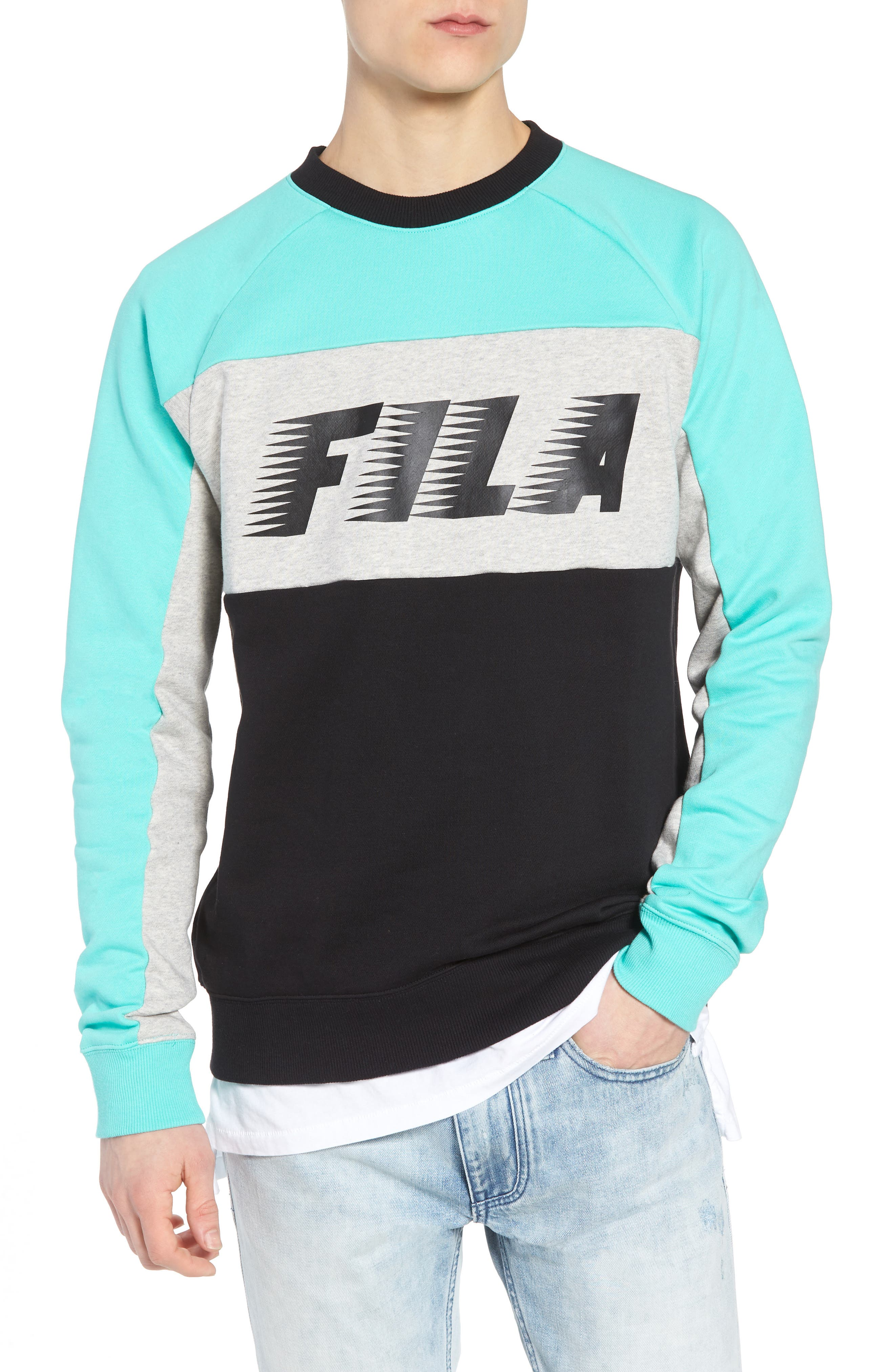 Layton Sweatshirt,                             Main thumbnail 1, color,                             Black/ Cockatoo/ Grey Marl