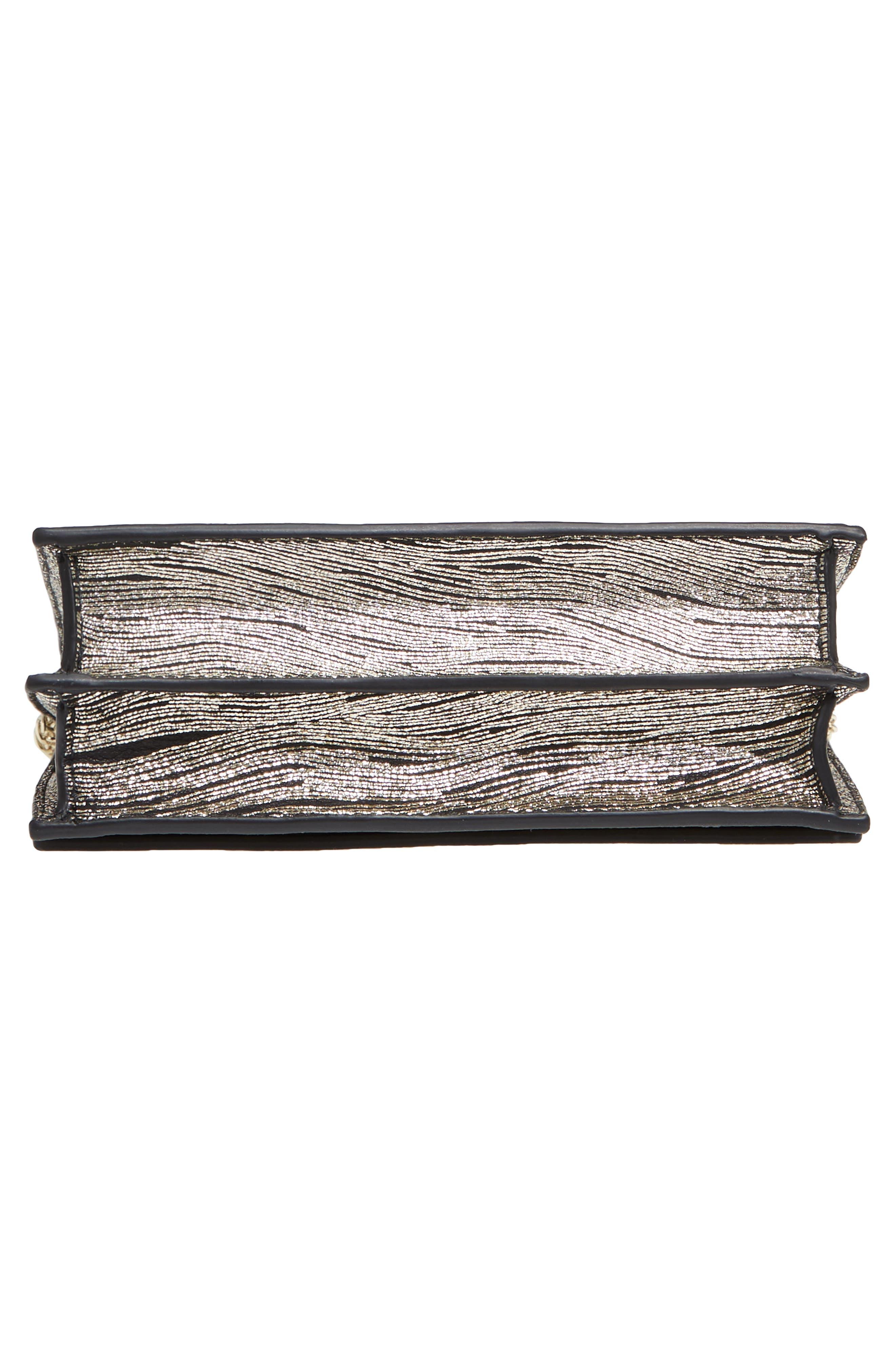 Alternate Image 6  - M2Malletier Alexia Metallic Calfskin Leather Clutch
