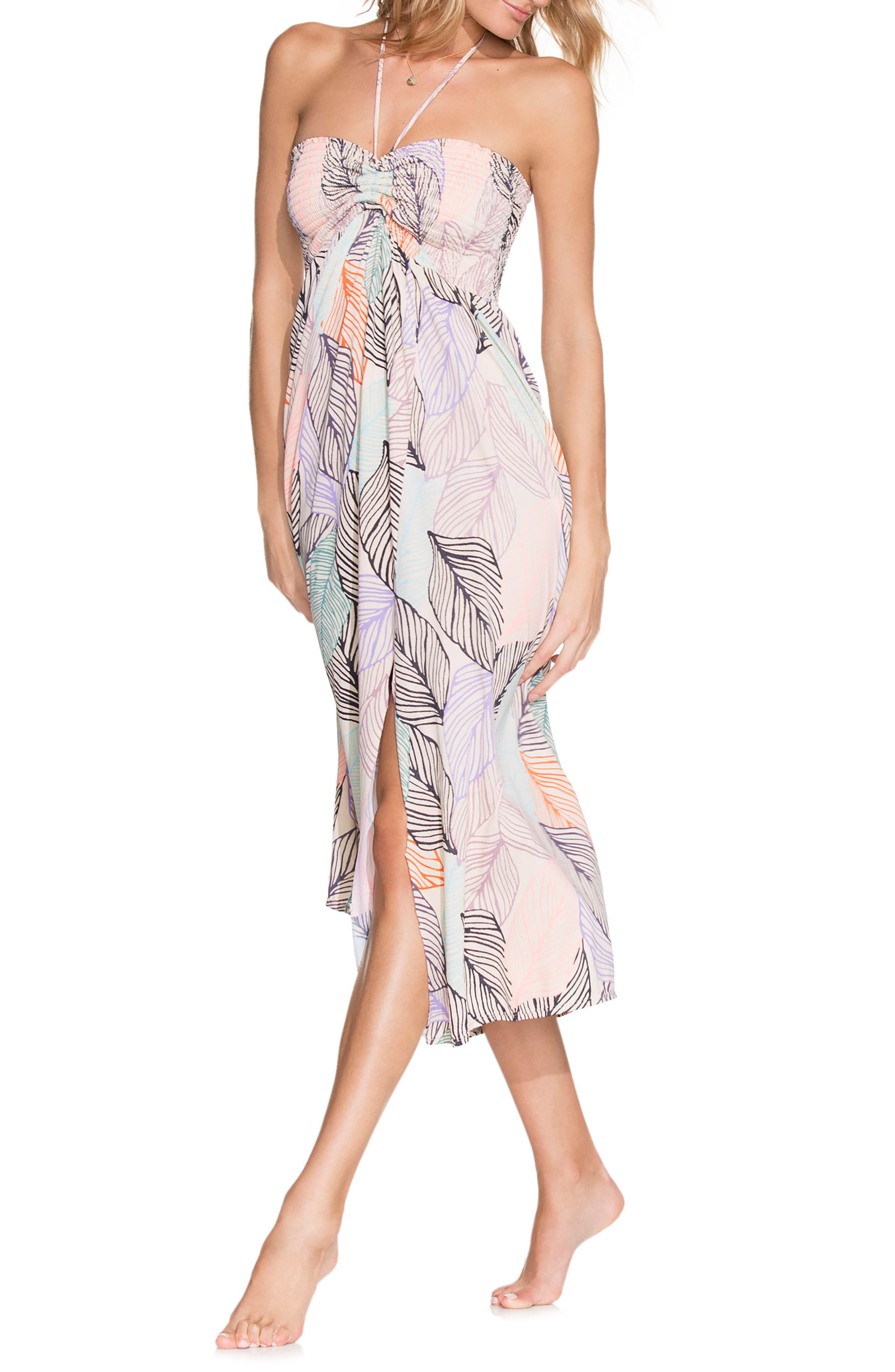 Under the Stars Two-Way Cover-Up,                         Main,                         color, Ivory Multi