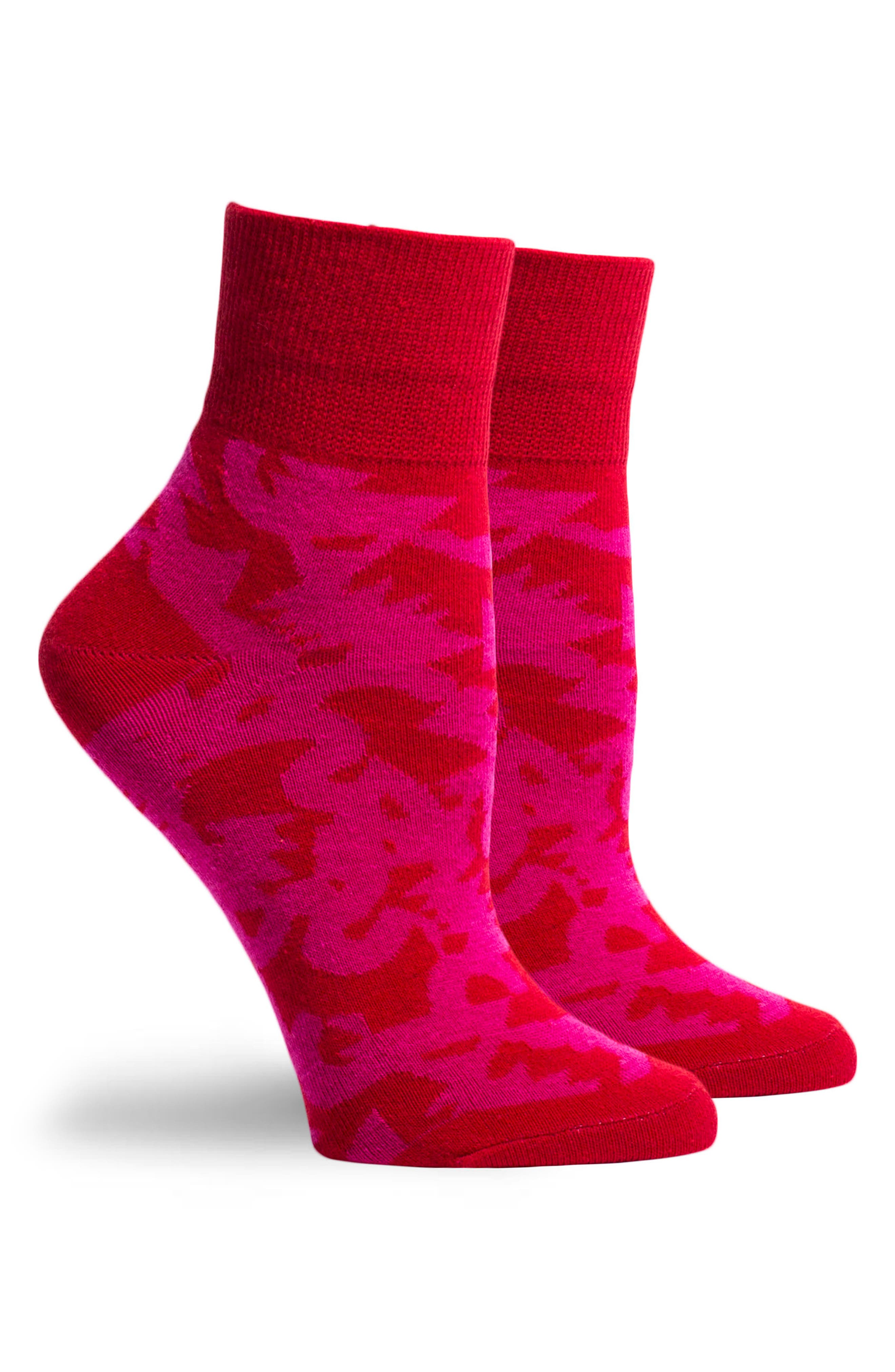 Abstract Will Bryant Socks,                             Alternate thumbnail 3, color,                             Red