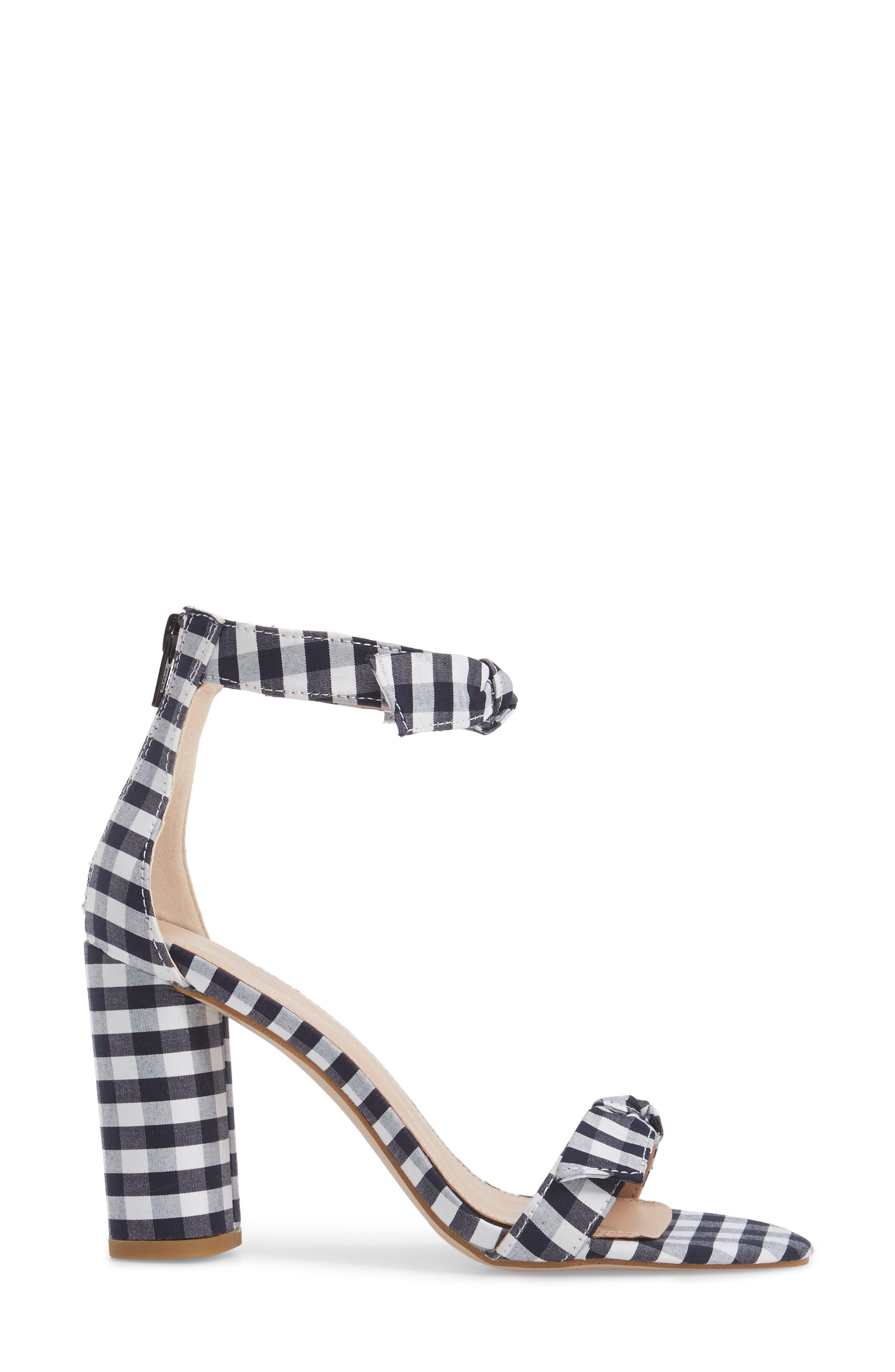 Faedra Ankle Strap Sandal,                             Alternate thumbnail 3, color,                             Dark Blue/ White