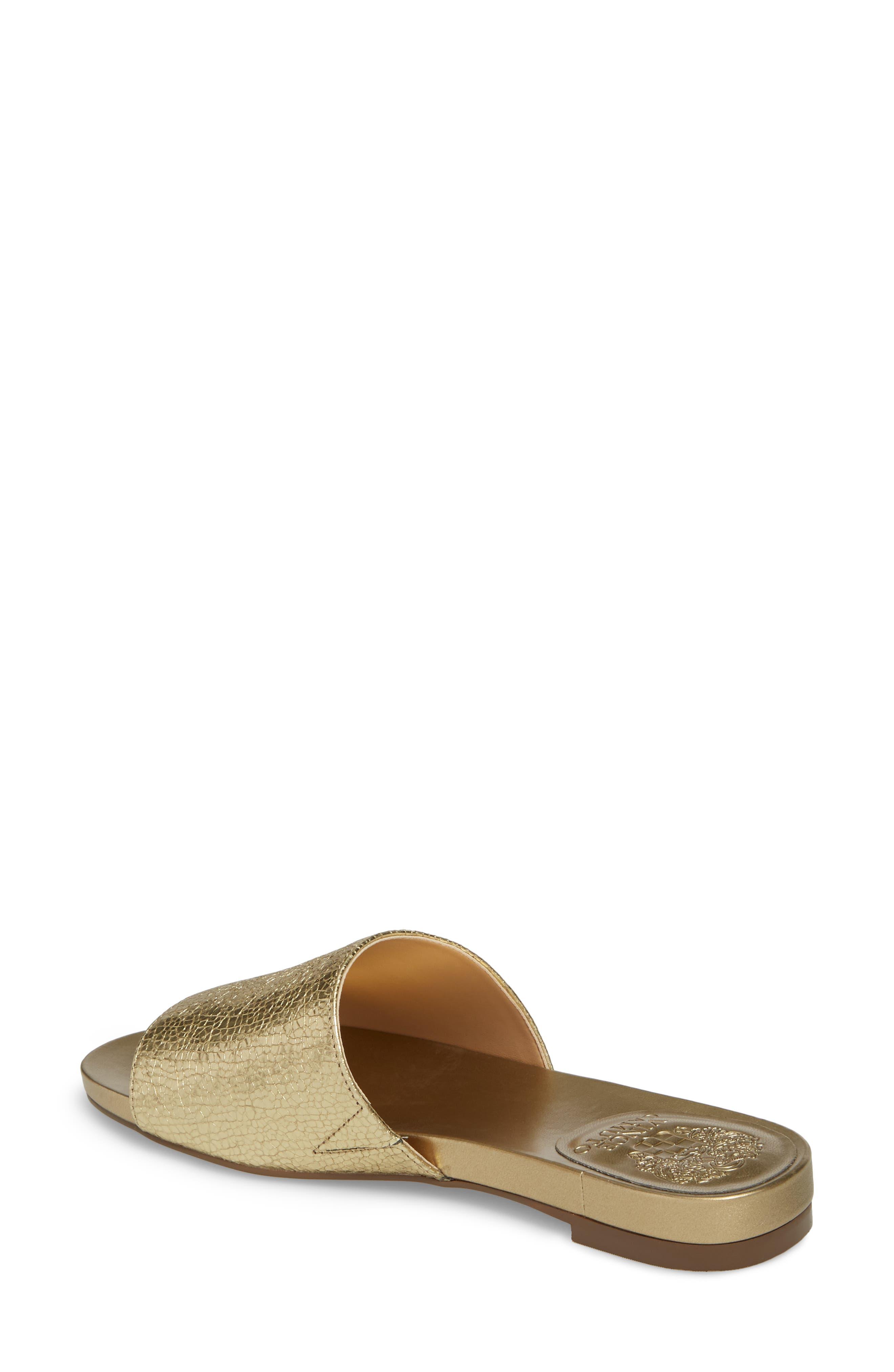 Haydan Slide Sandal,                             Alternate thumbnail 2, color,                             Karat Gold Fabric