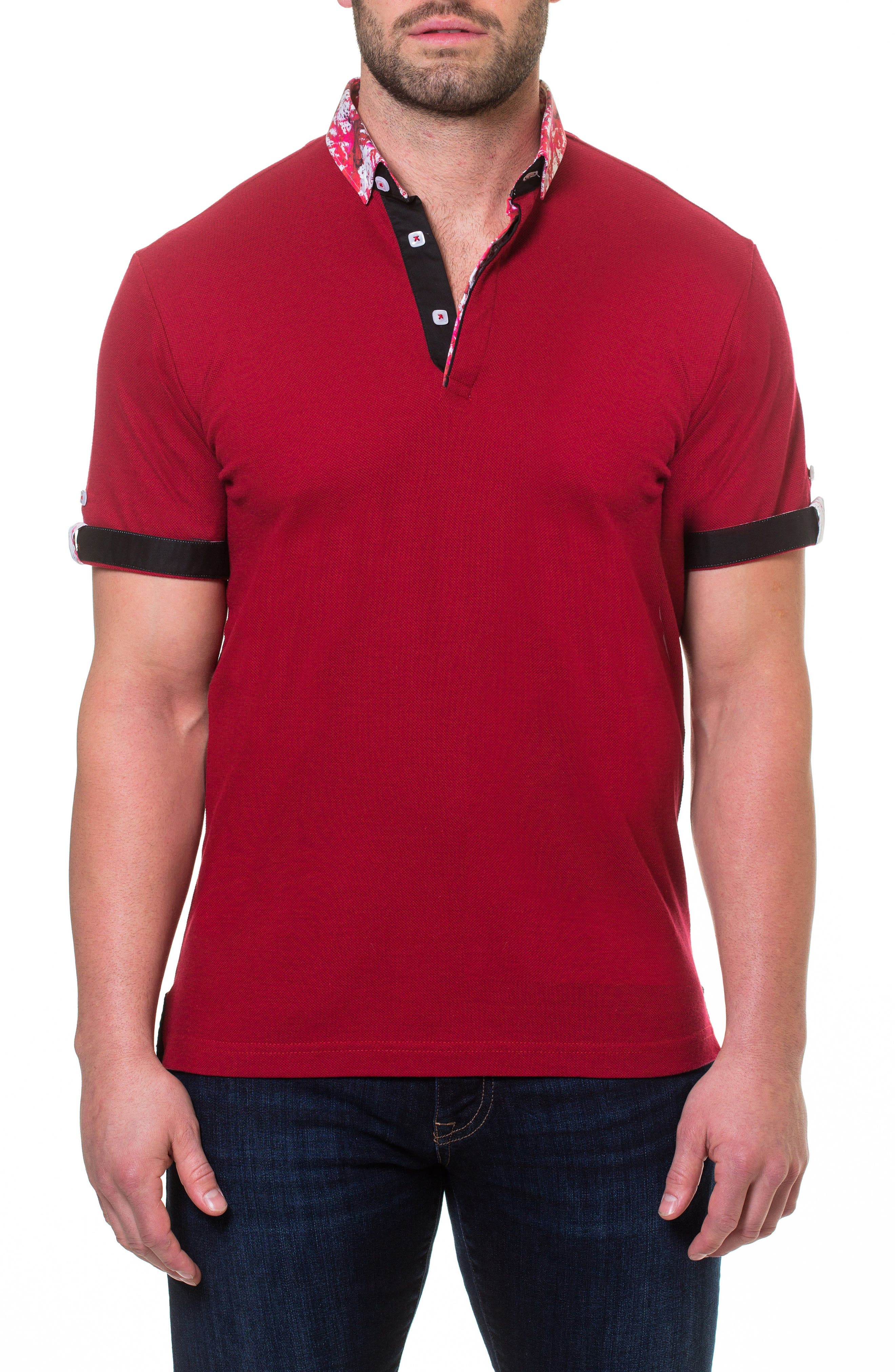 Polo,                             Main thumbnail 1, color,                             Red