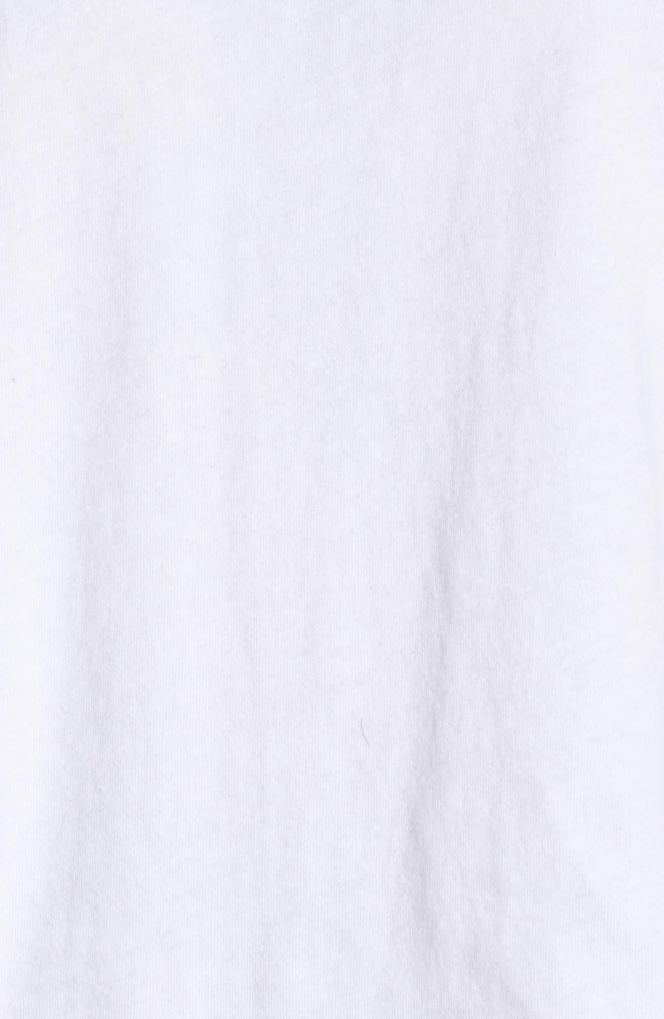 Keegan Crop Lounge Tee,                             Alternate thumbnail 6, color,                             White