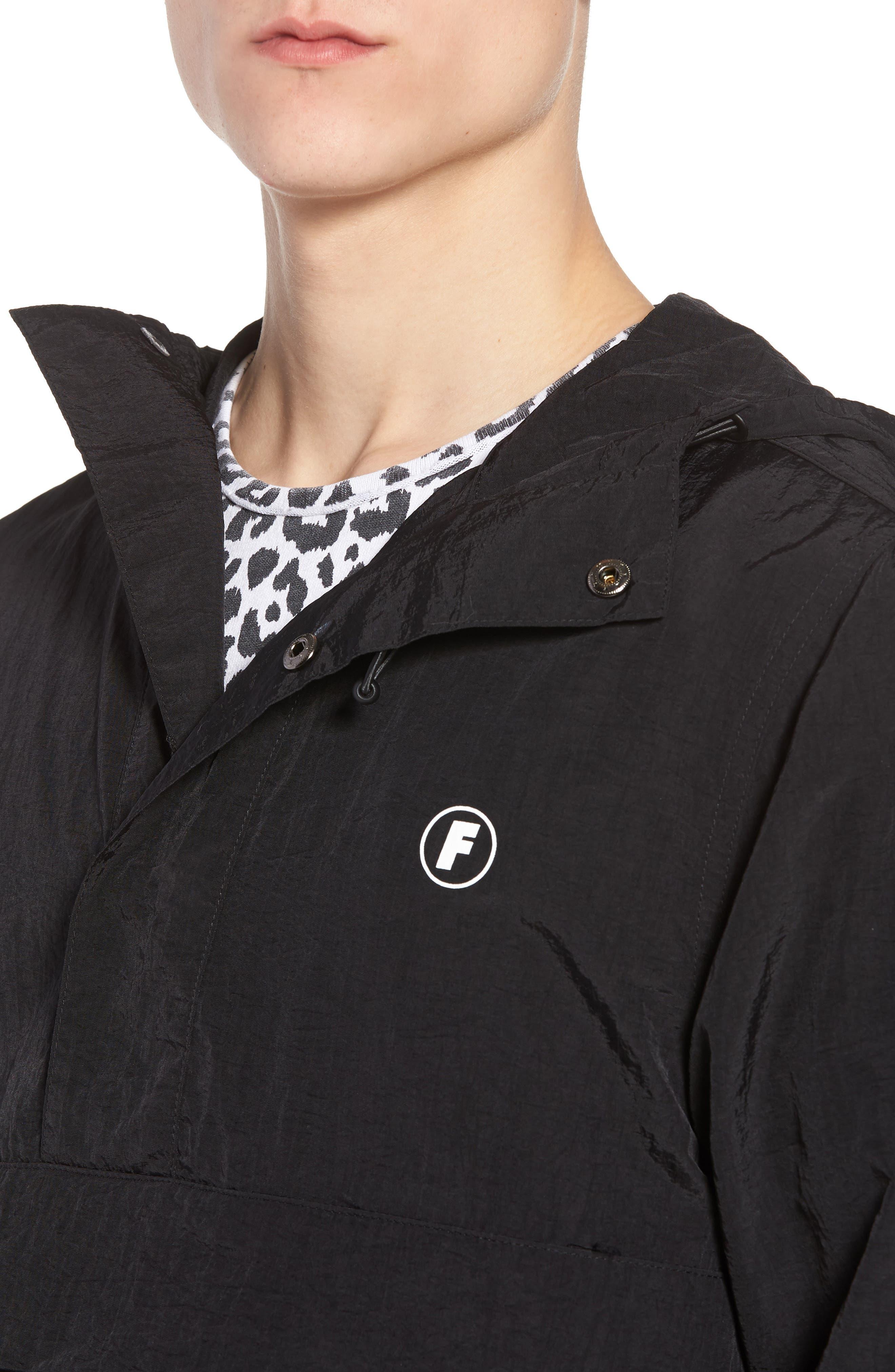 Tillman Packable Anorak Jacket,                             Alternate thumbnail 4, color,                             Black
