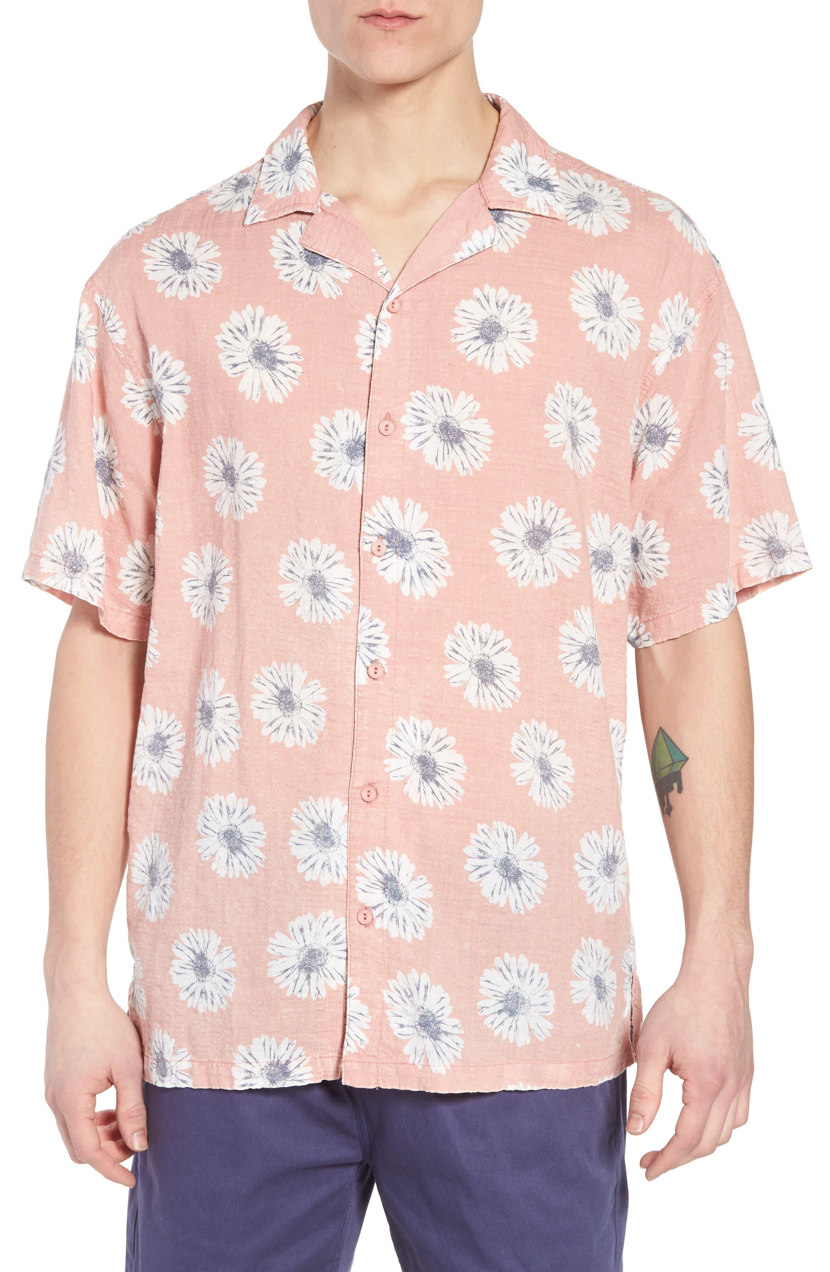 Ferris Woven Shirt,                         Main,                         color, Pink