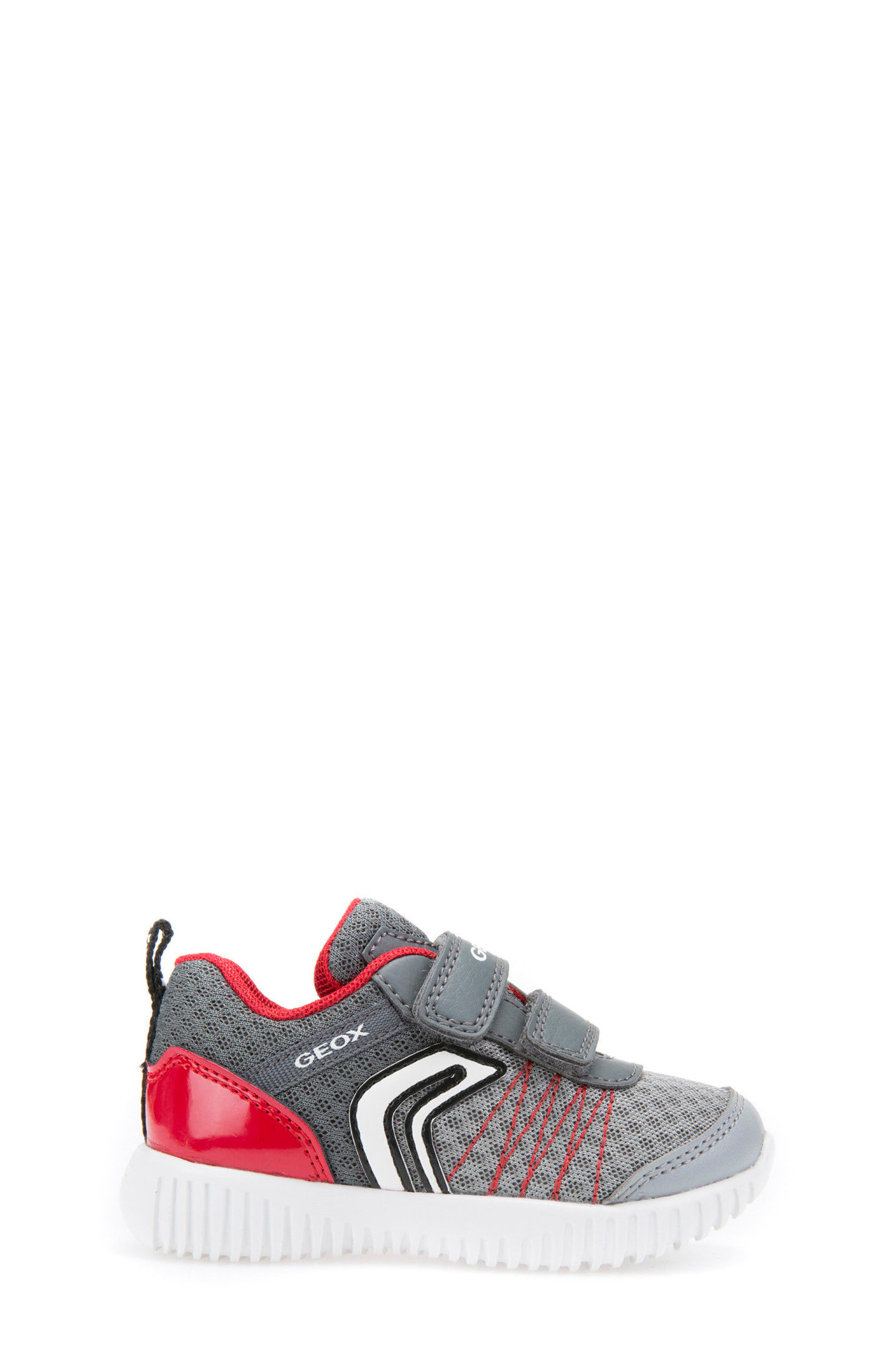 Waviness Sneaker,                             Alternate thumbnail 3, color,                             Grey/ Red