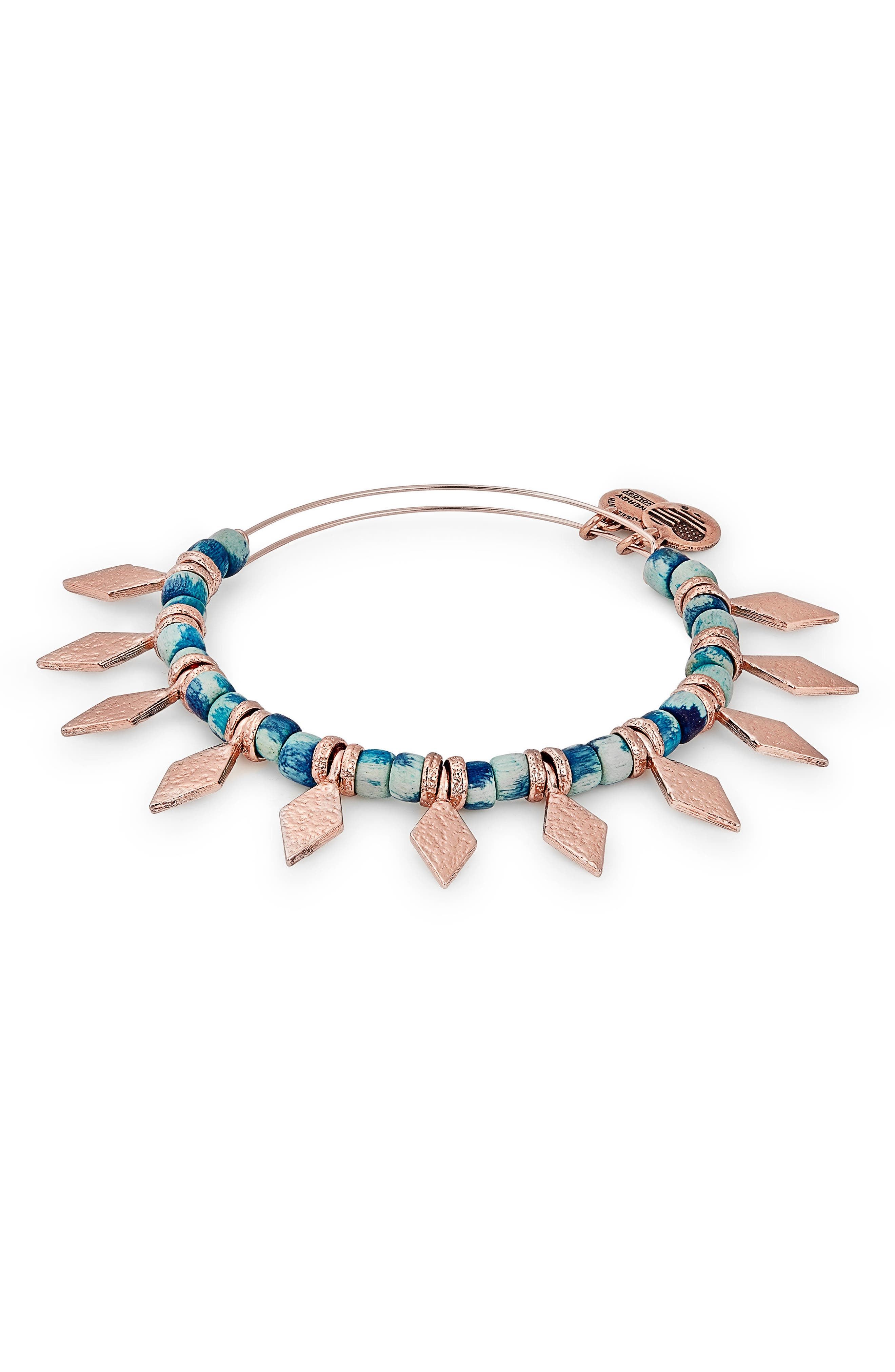 Spearhead Ocean Adjustable Bracelet,                             Main thumbnail 1, color,                             Rose Gold Multi