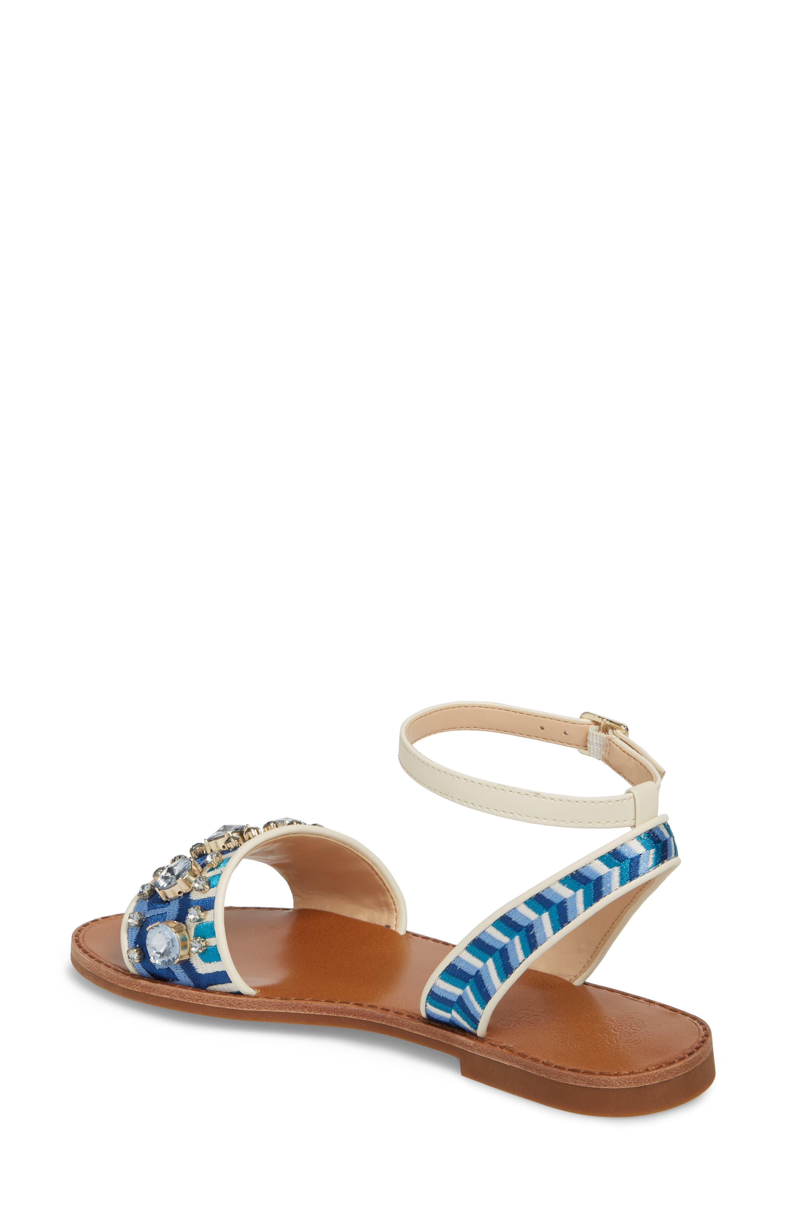 Akitta Sandal,                             Alternate thumbnail 2, color,                             Blue Multi/ Vanilla Fabric