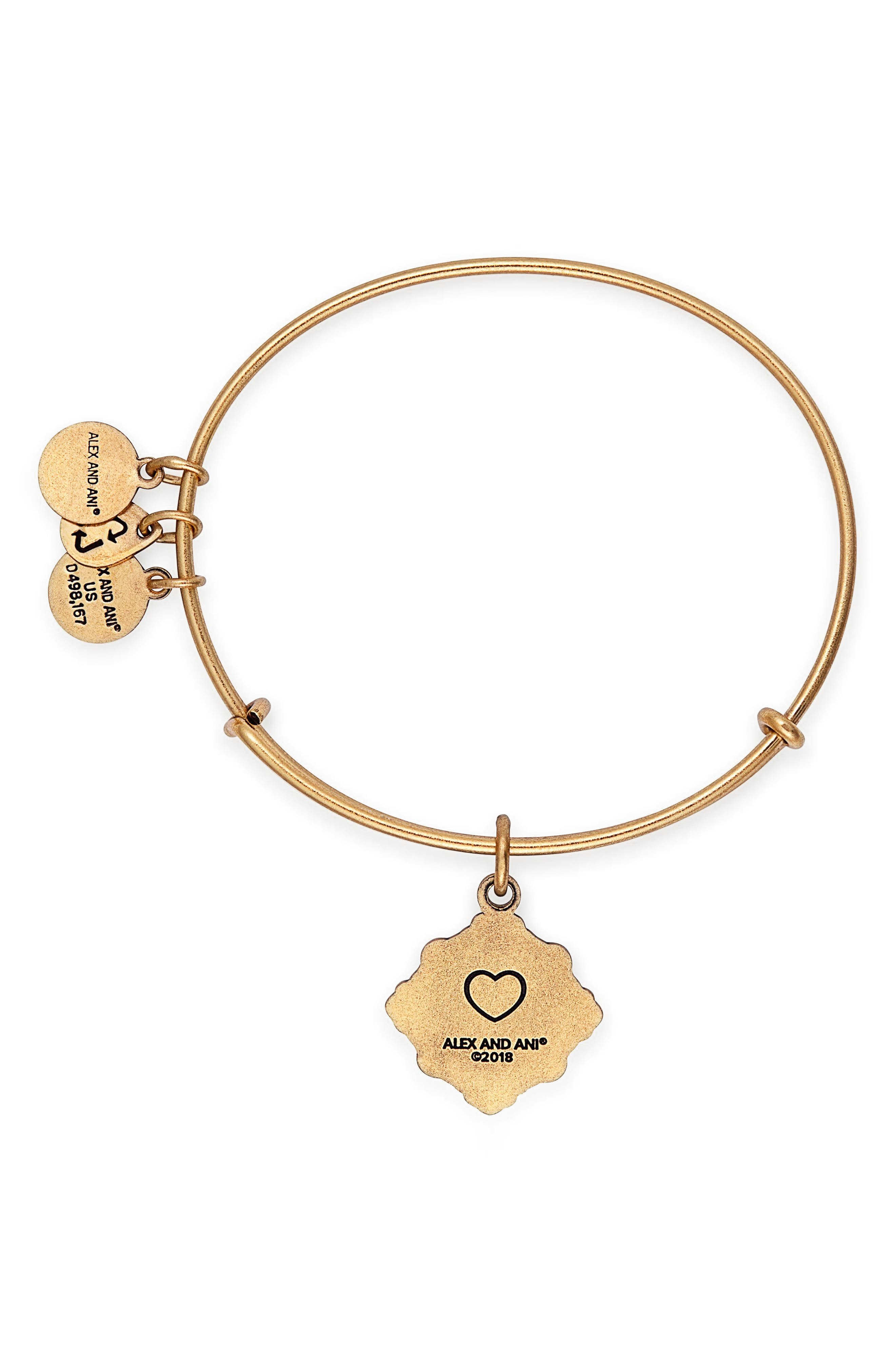 Because I Love You Godmother Charm Bangle,                             Alternate thumbnail 2, color,                             Gold