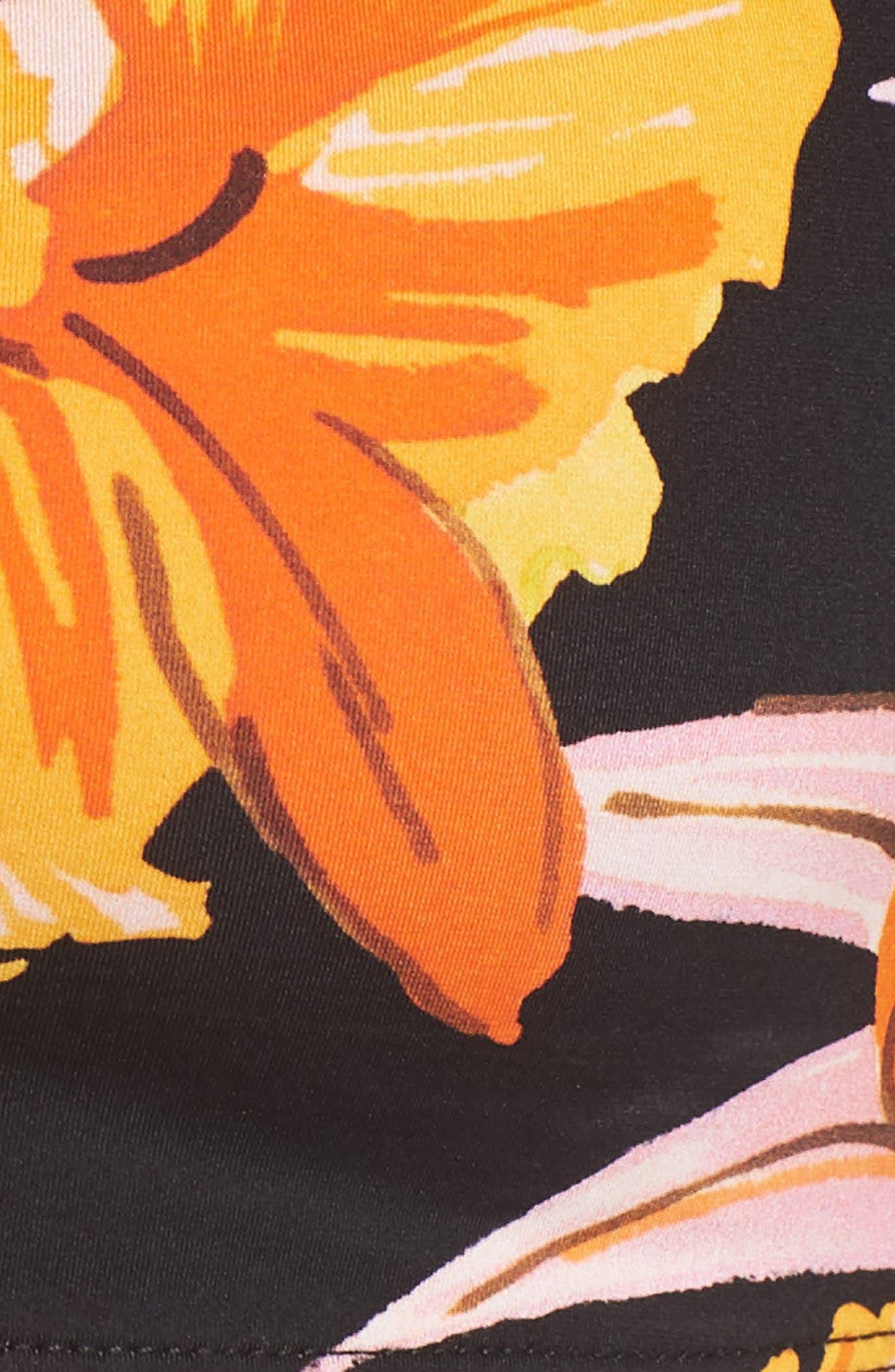 Mila Off the Shoulder Bikini Top,                             Alternate thumbnail 5, color,                             Night Bloom